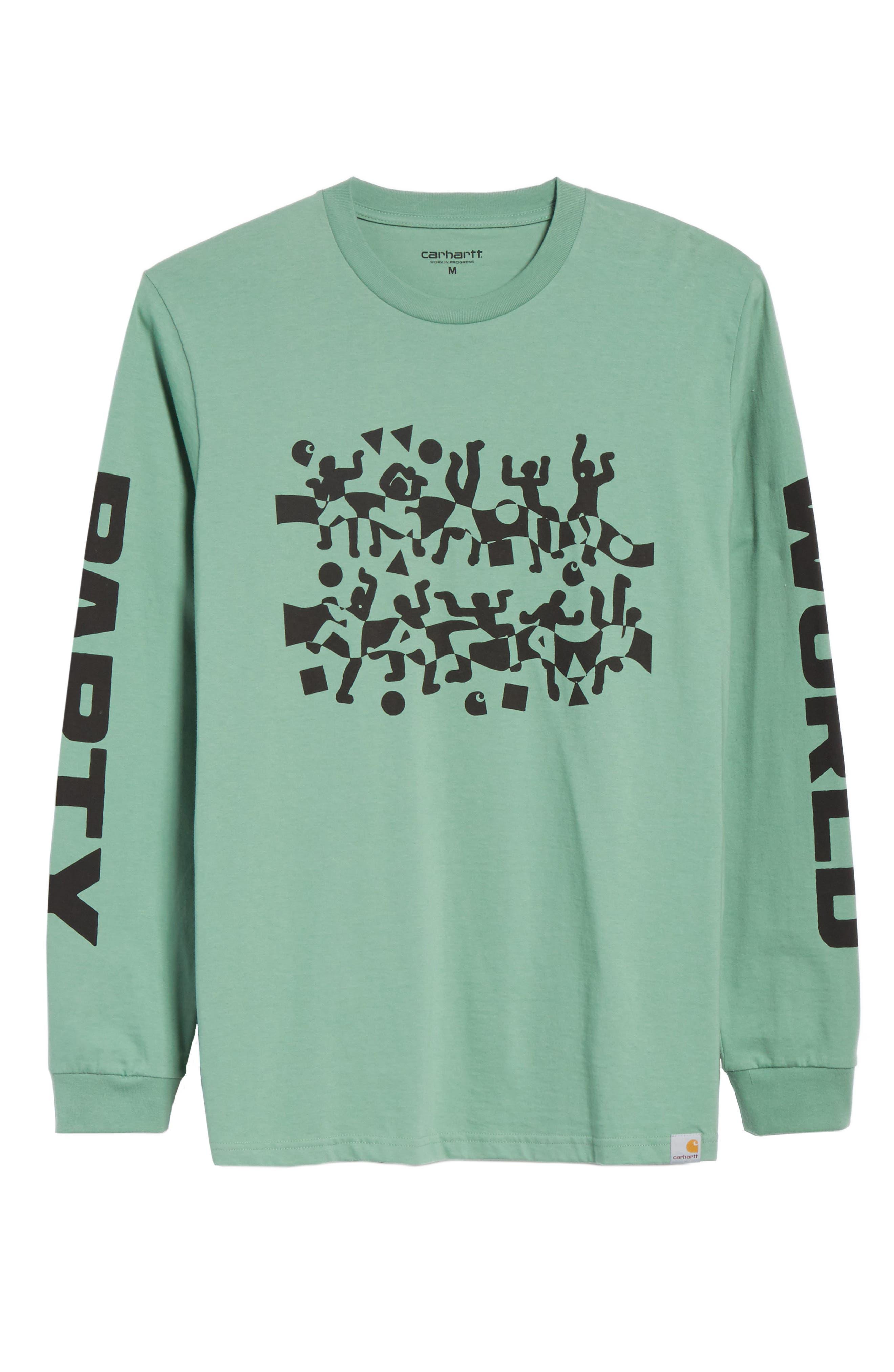 World Party T-Shirt,                             Alternate thumbnail 6, color,                             Catnip/Black