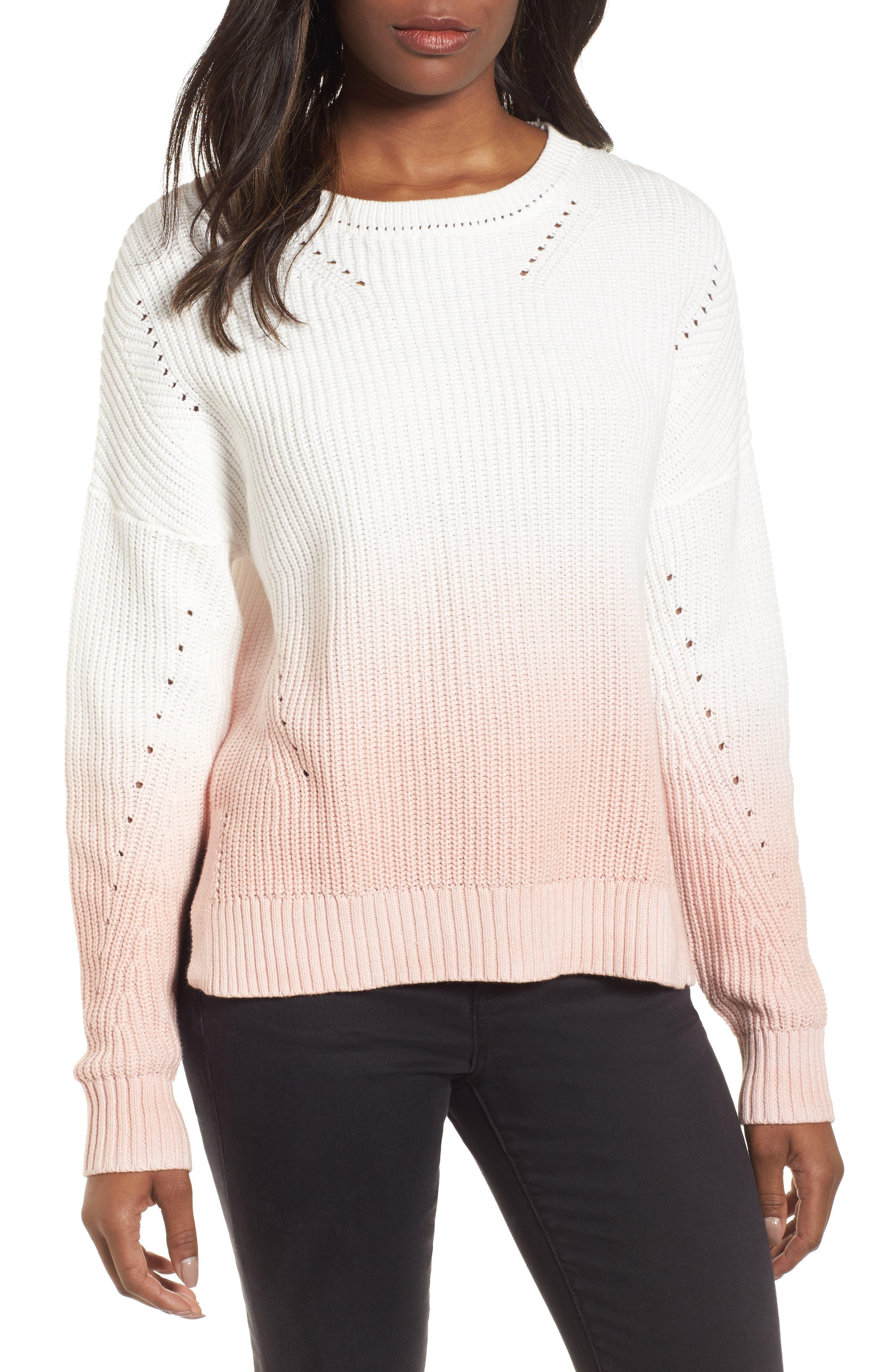 Caslon® Shaker Stitch Cotton Sweater