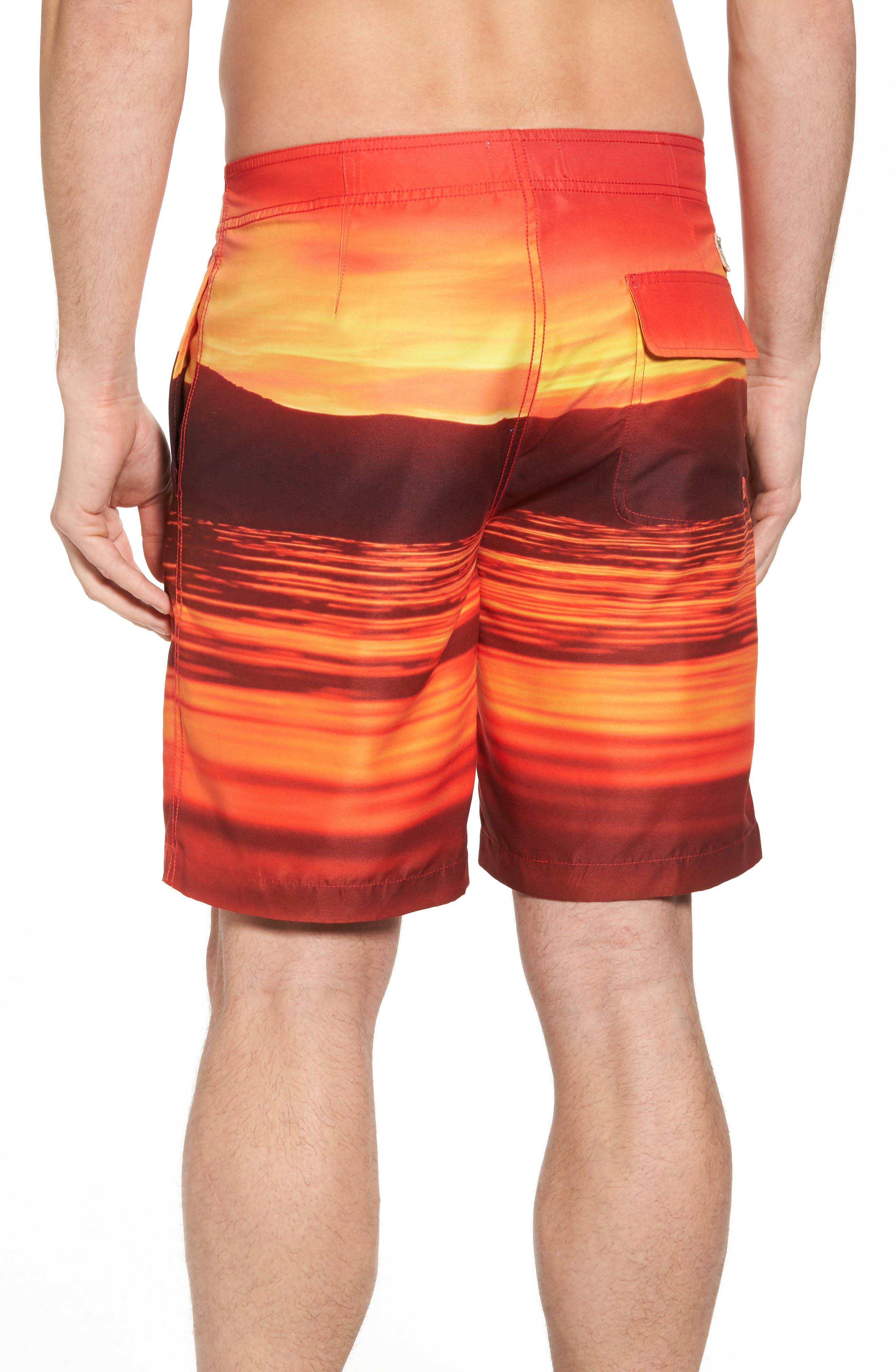 Red Sea Photo Real Board Shorts,                             Alternate thumbnail 2, color,                             Mars Red