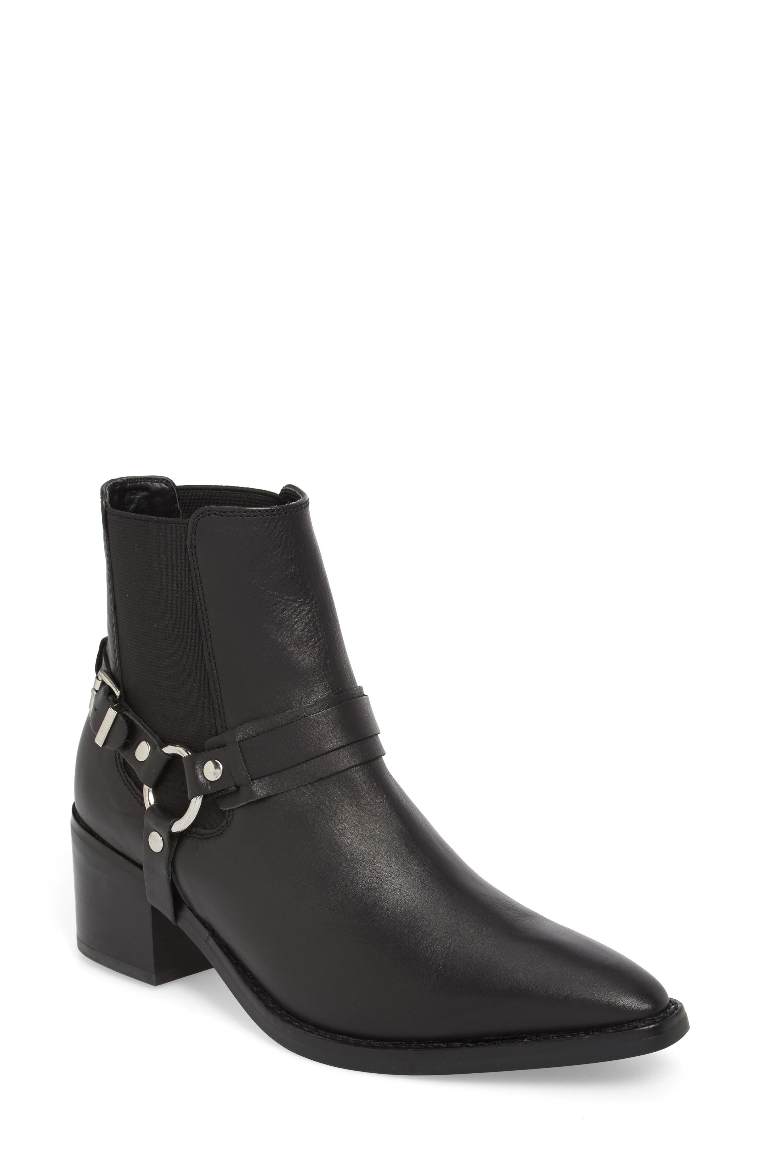 Sabana Engineer Boot,                             Main thumbnail 1, color,                             Black Albany Leather
