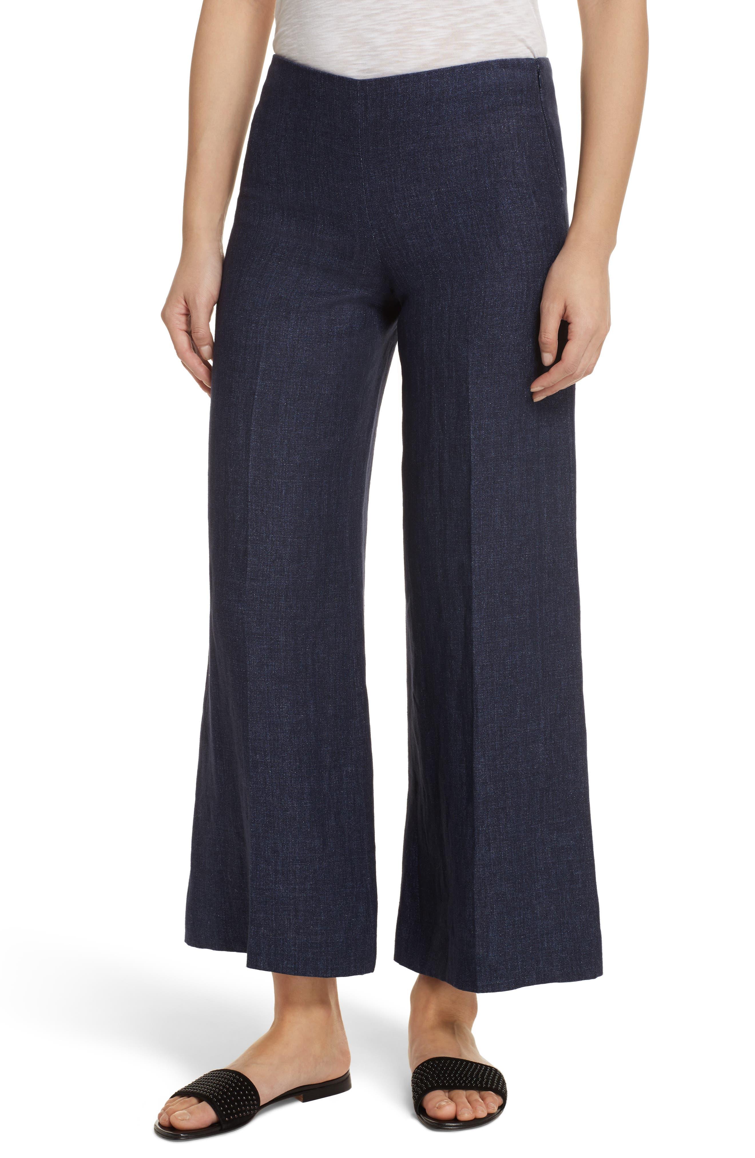 Terena B Linen Wide Leg Pants by Theory