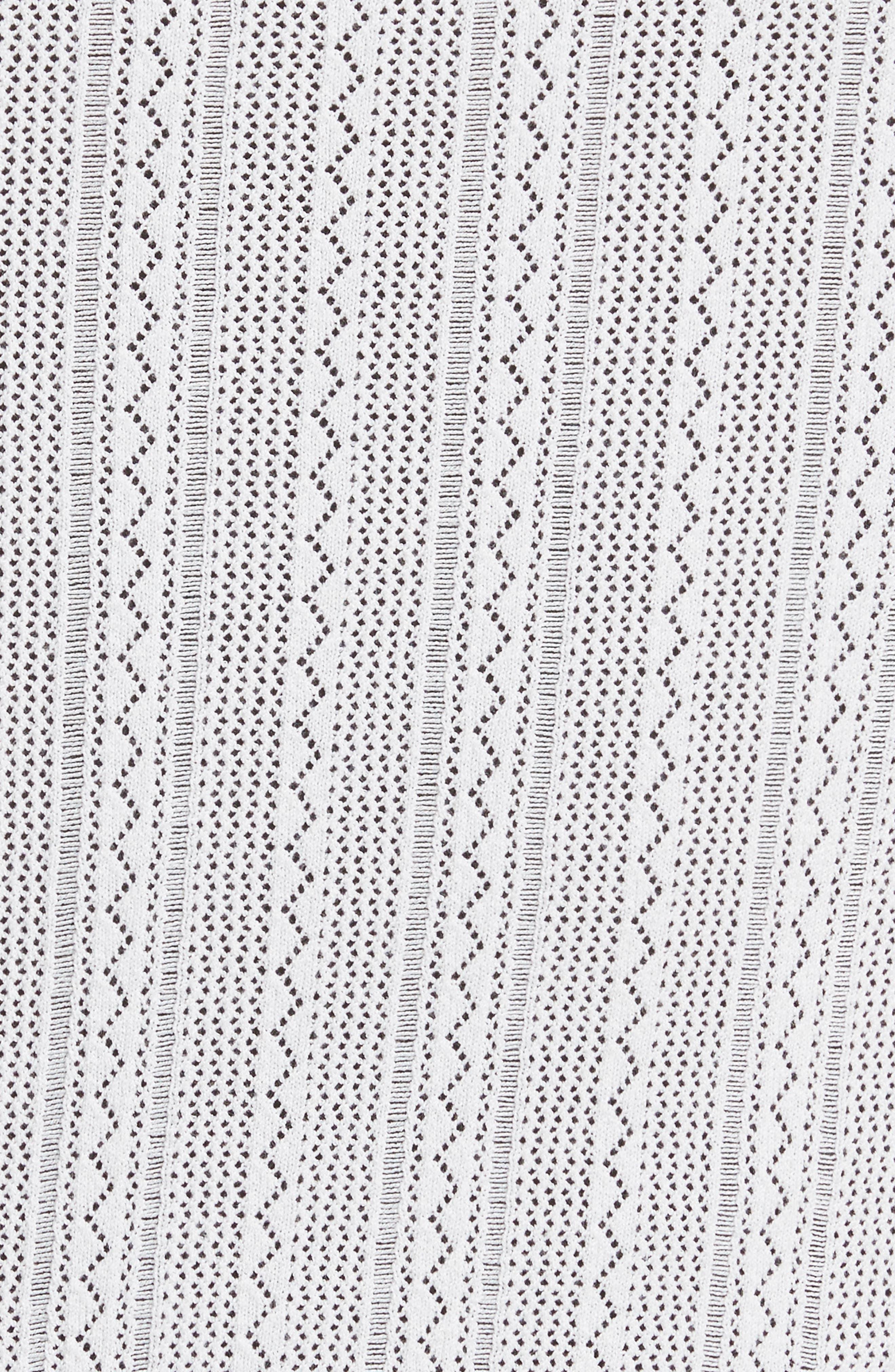 Prosecco Lace Knit Cardigan,                             Alternate thumbnail 5, color,                             Eggshell
