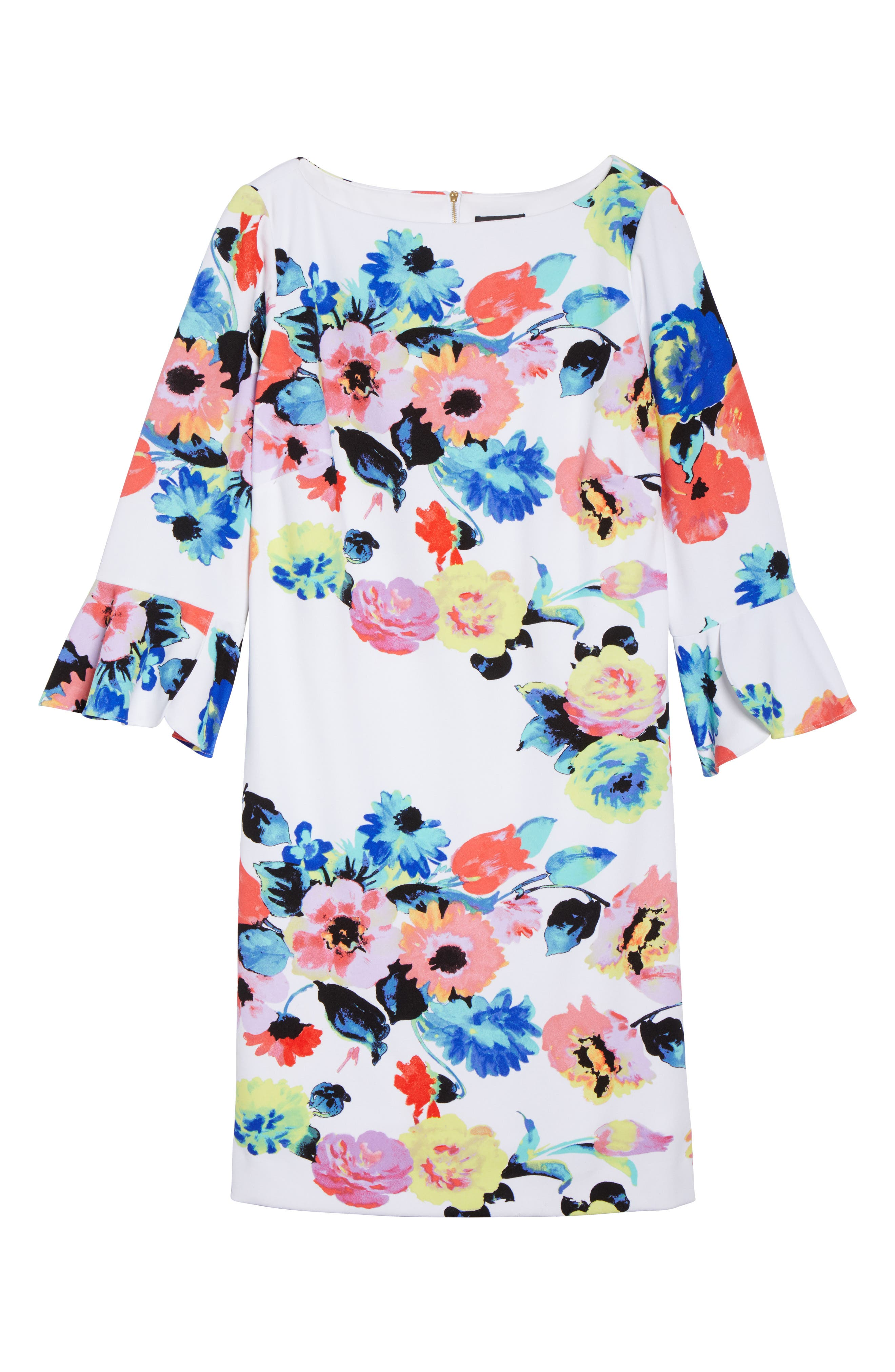 Alternate Image 6  - Tahari Floral Print Shift Dress (Plus Size)