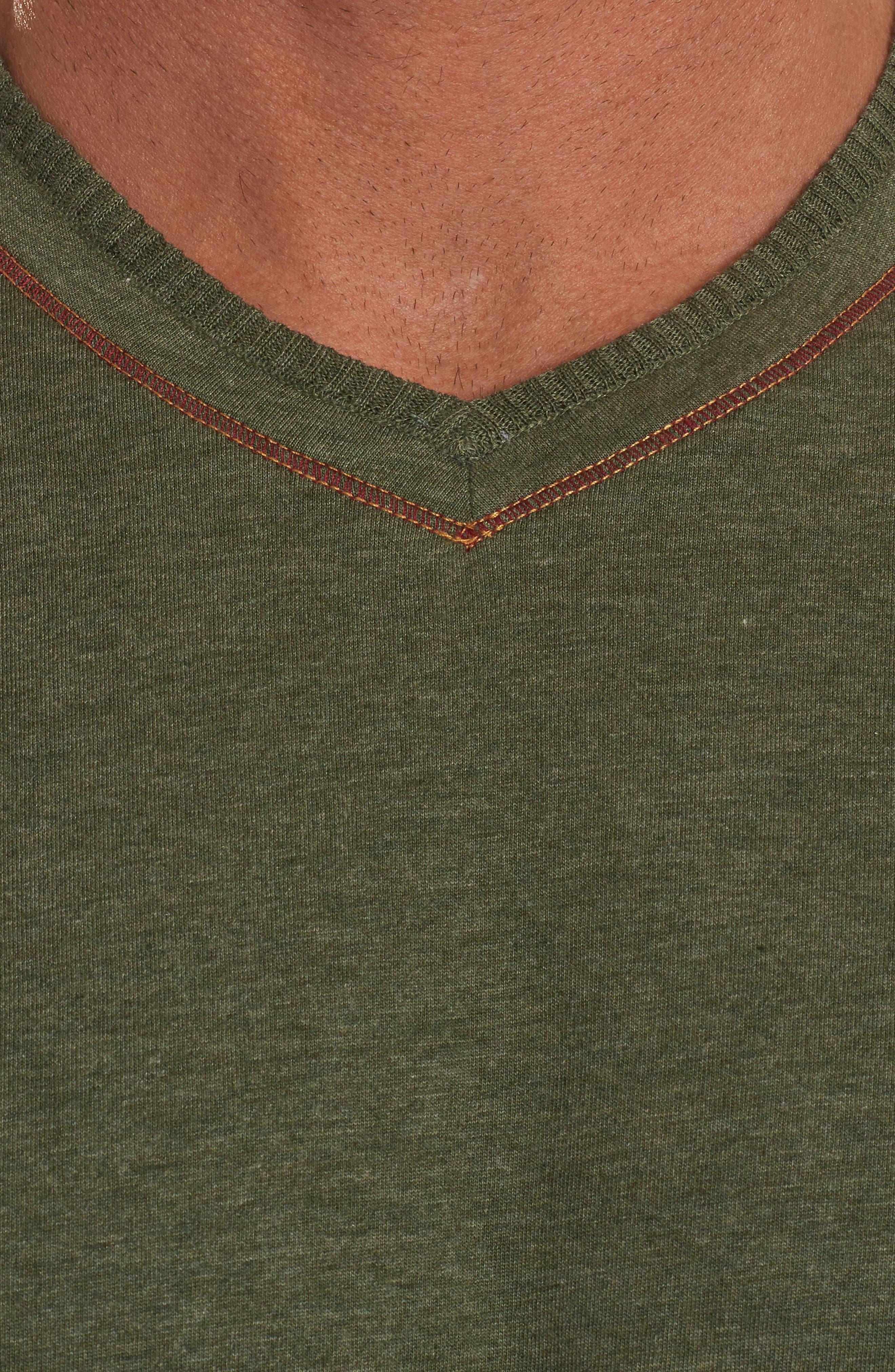 Traveler V-Neck T-Shirt,                             Alternate thumbnail 3, color,                             Army