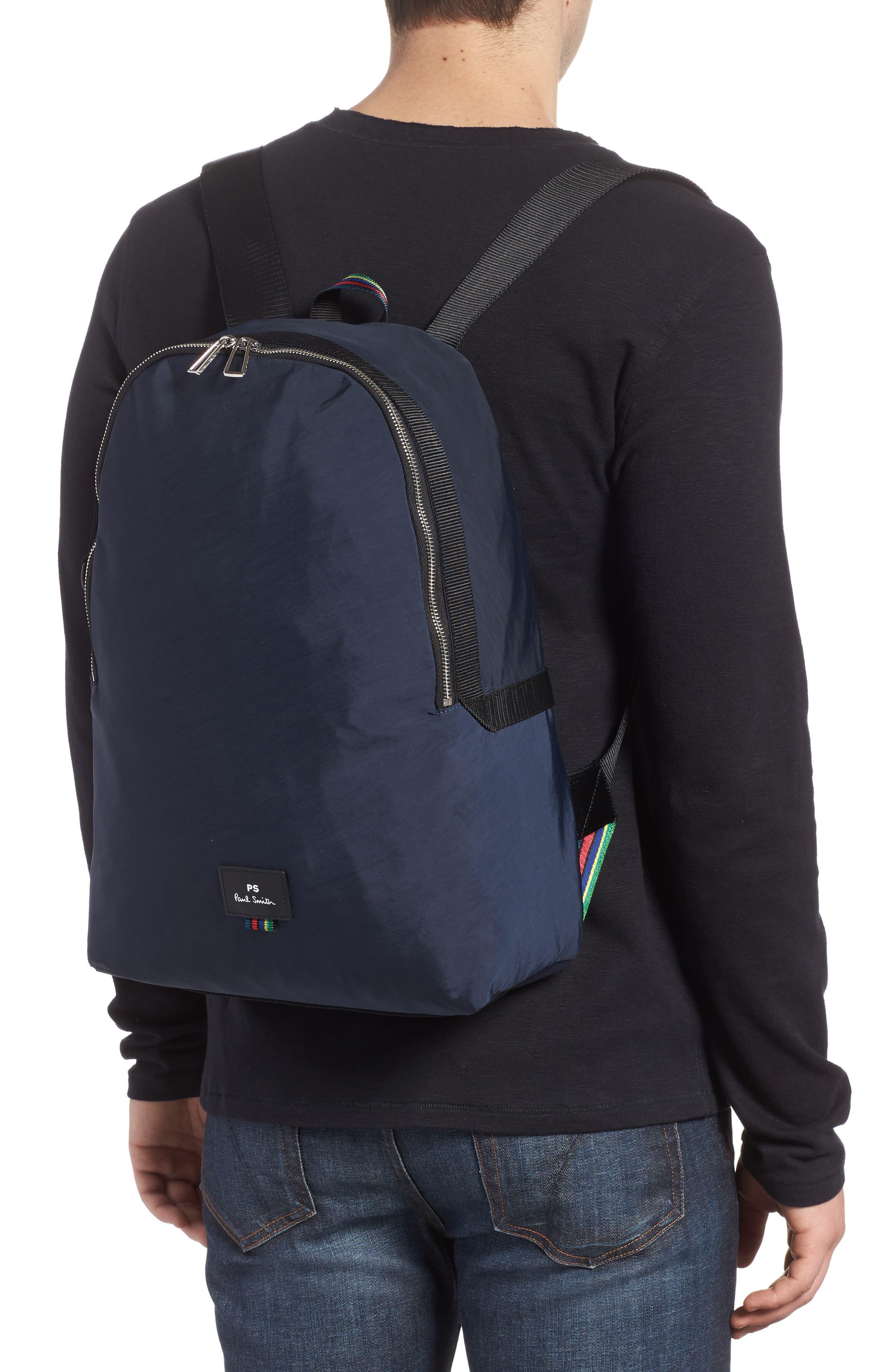 Nylon Backpack,                             Alternate thumbnail 2, color,                             Navy