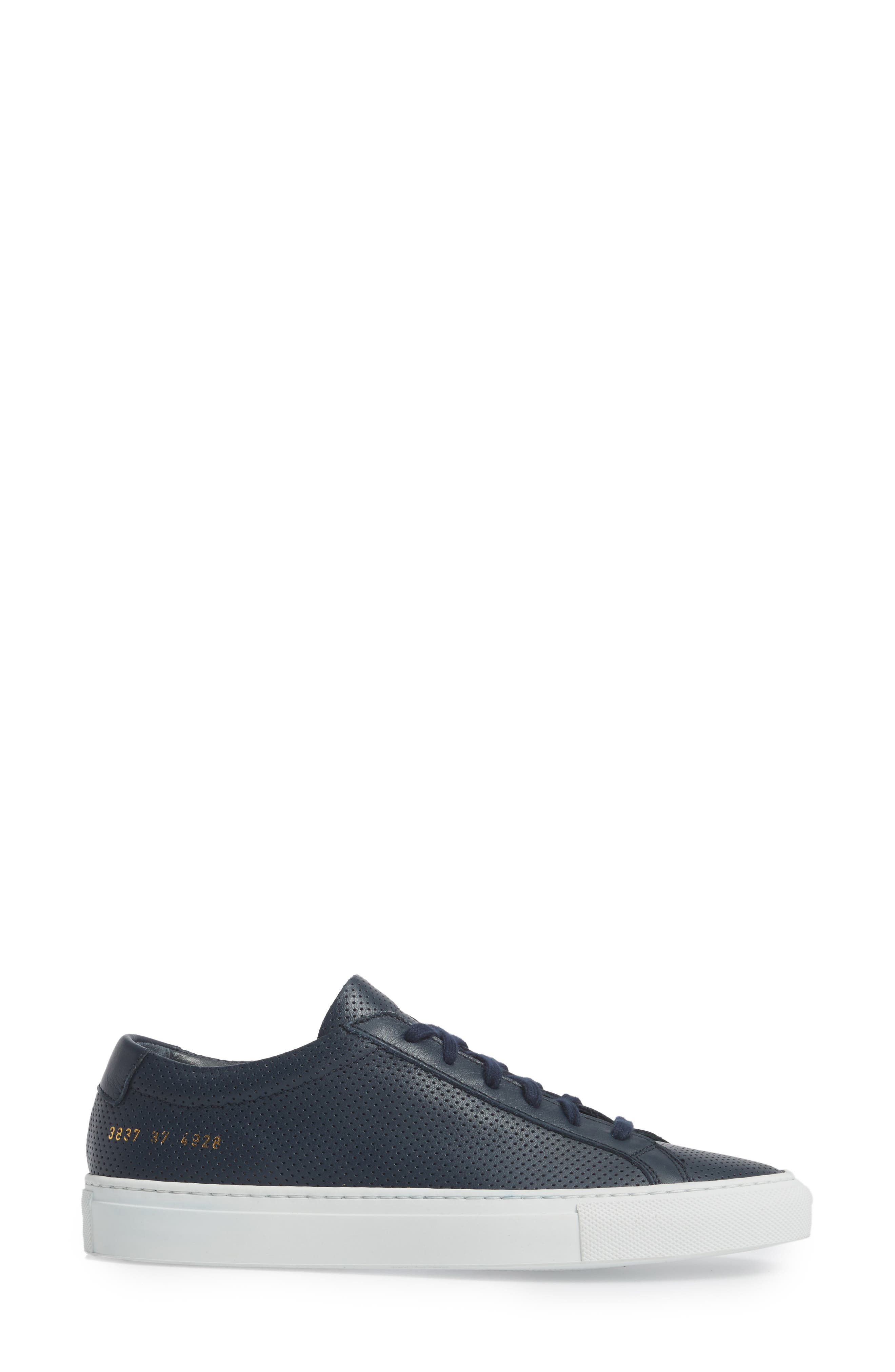 Original Achilles Perforated Low Sneaker,                             Alternate thumbnail 3, color,                             Navy