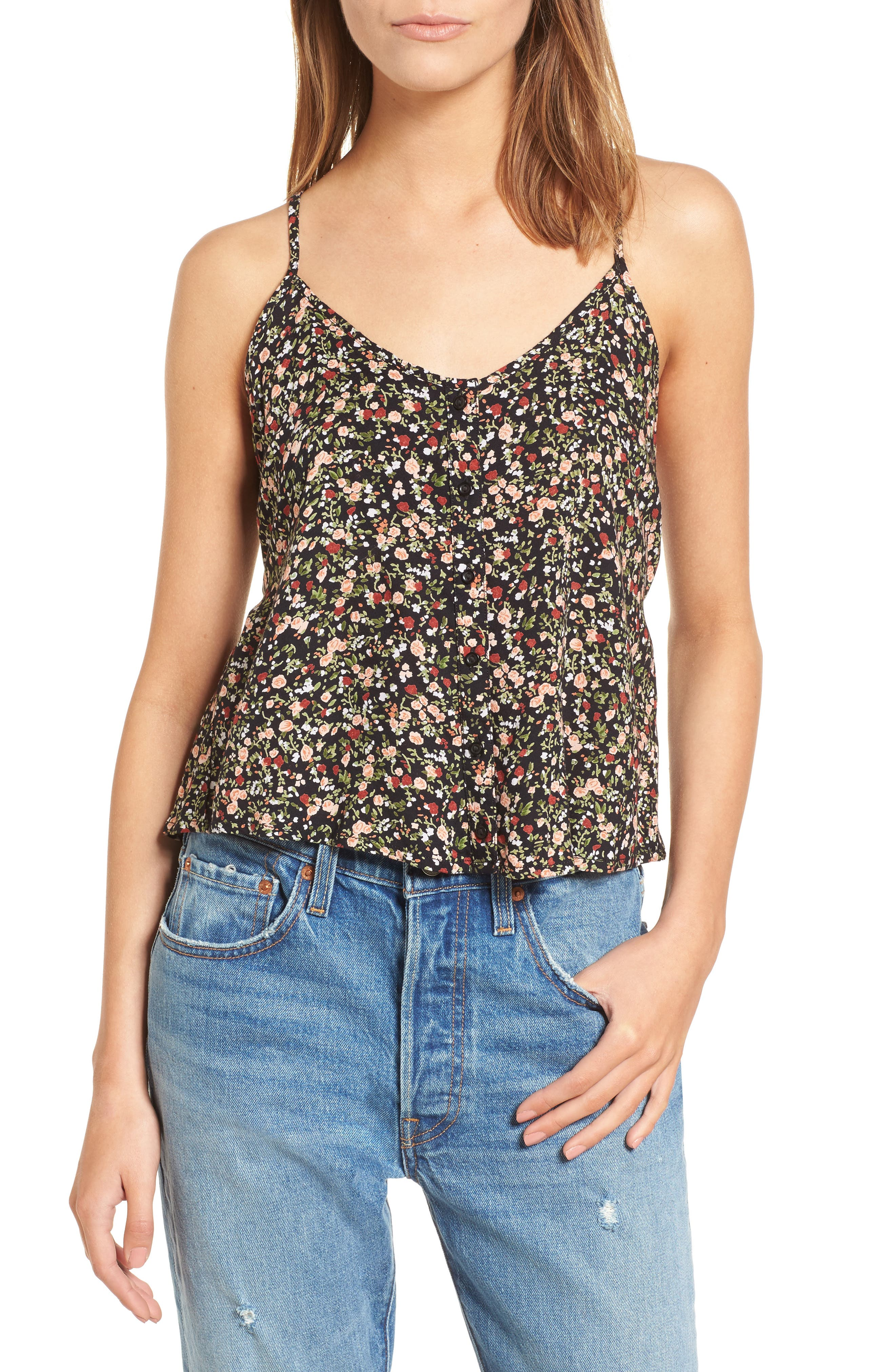 Obey Chase Floral Print Tank Top