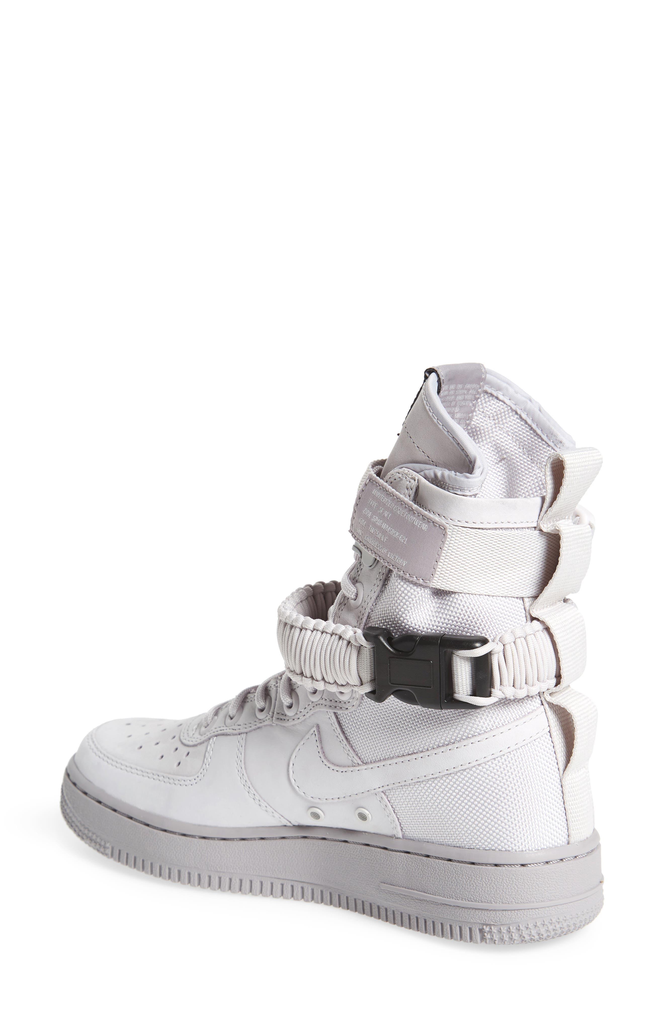 SF Air Force 1 High Top Sneaker,                             Alternate thumbnail 2, color,                             Vast Grey/ Vast Grey