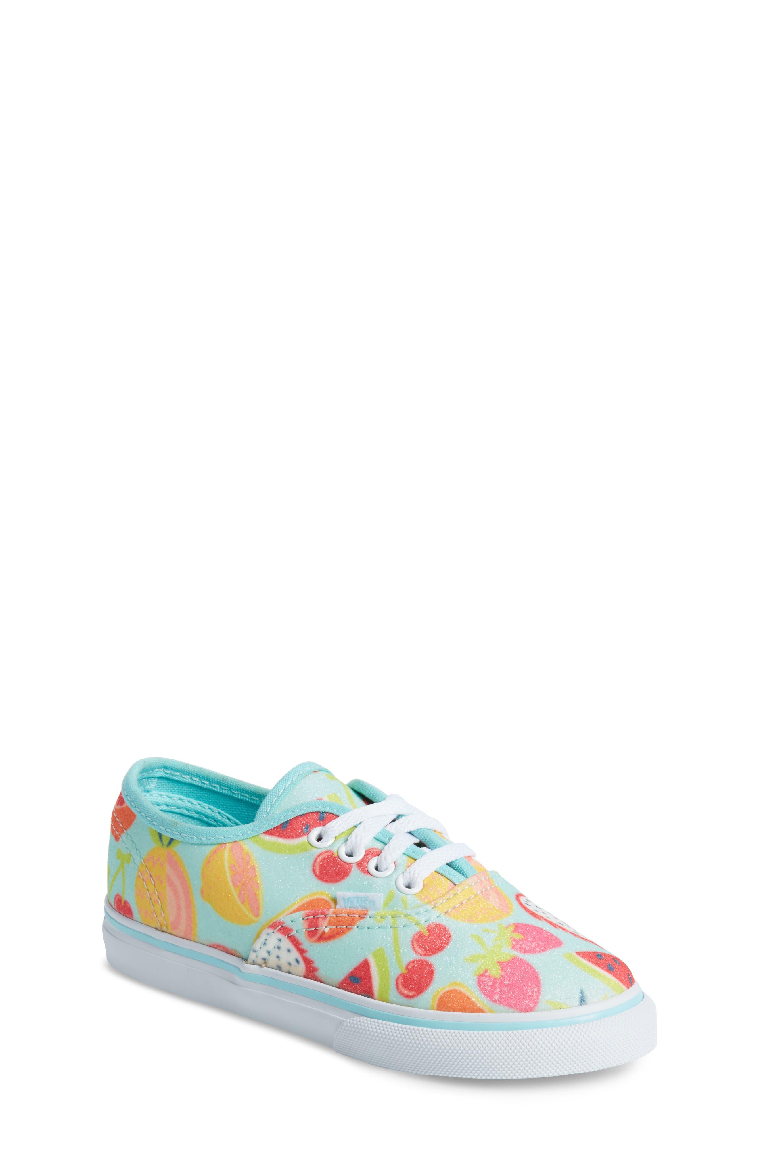 Authentic Glitter Fruits Sneaker,                         Main,                         color, Island Paradise/ Glitter Fruit