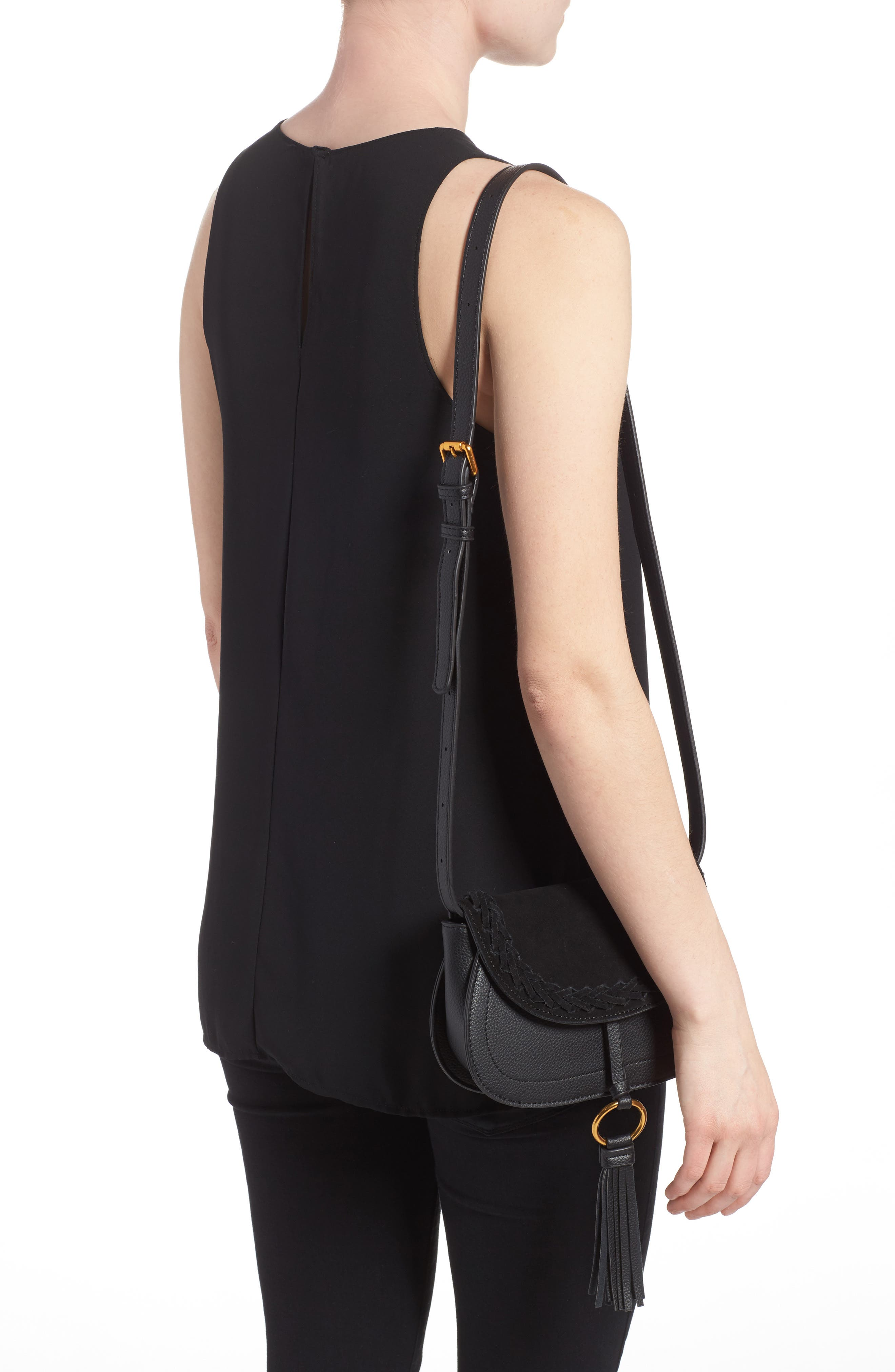 Convertible Crossbody Bag,                             Alternate thumbnail 2, color,                             Black