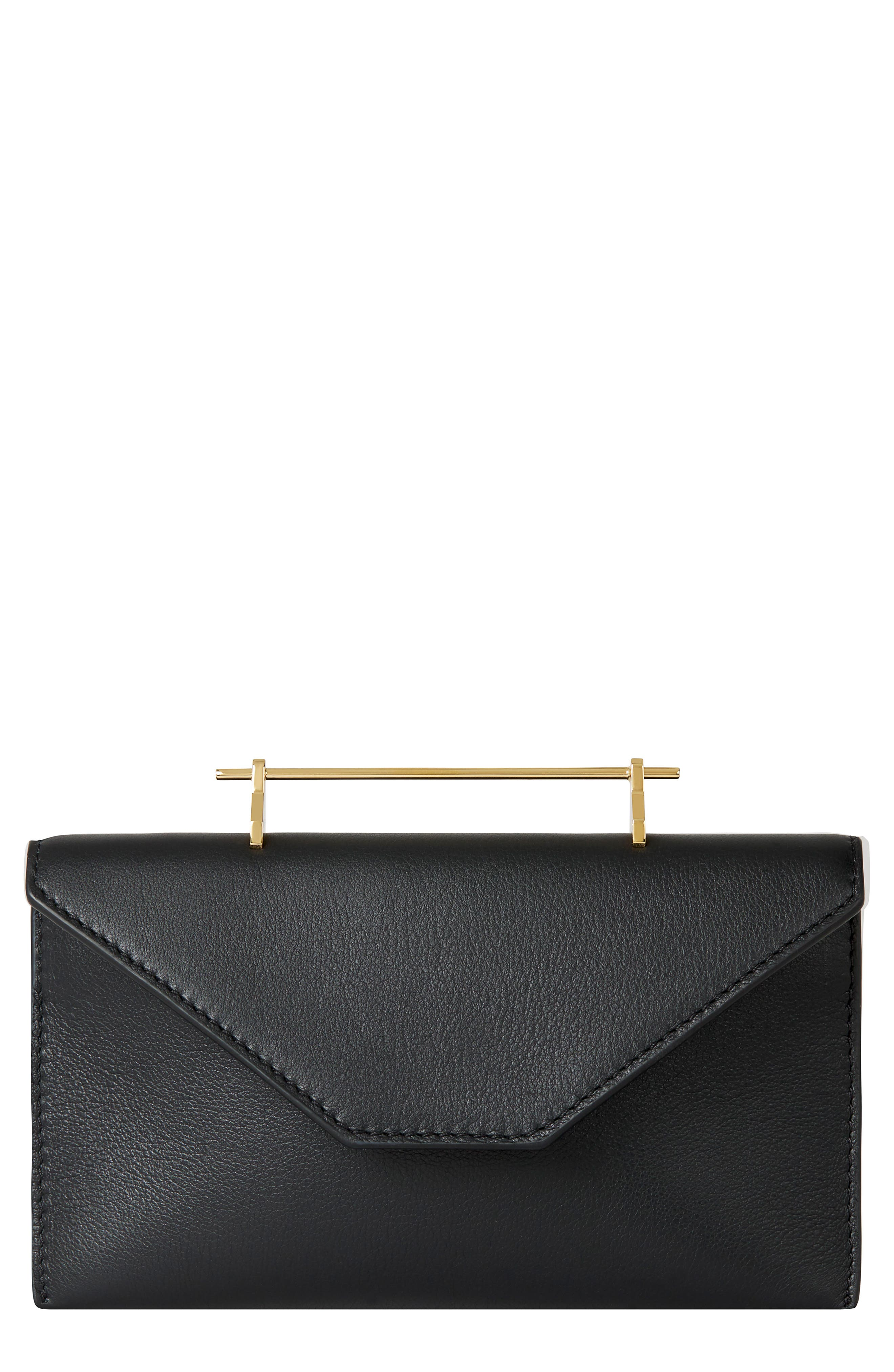 M2Malletier Annabelle Calfskin Leather Clutch