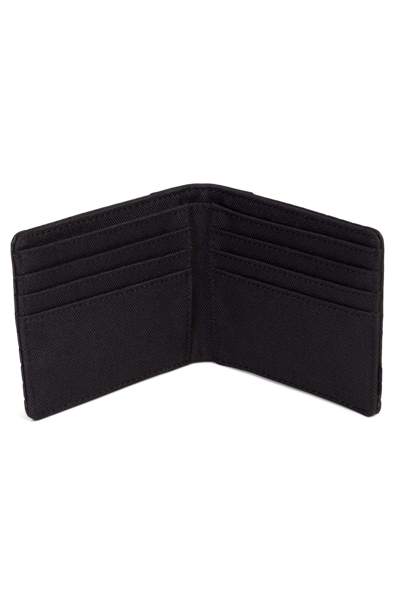 Edward Aspect Perforated Wallet,                             Alternate thumbnail 2, color,                             Black