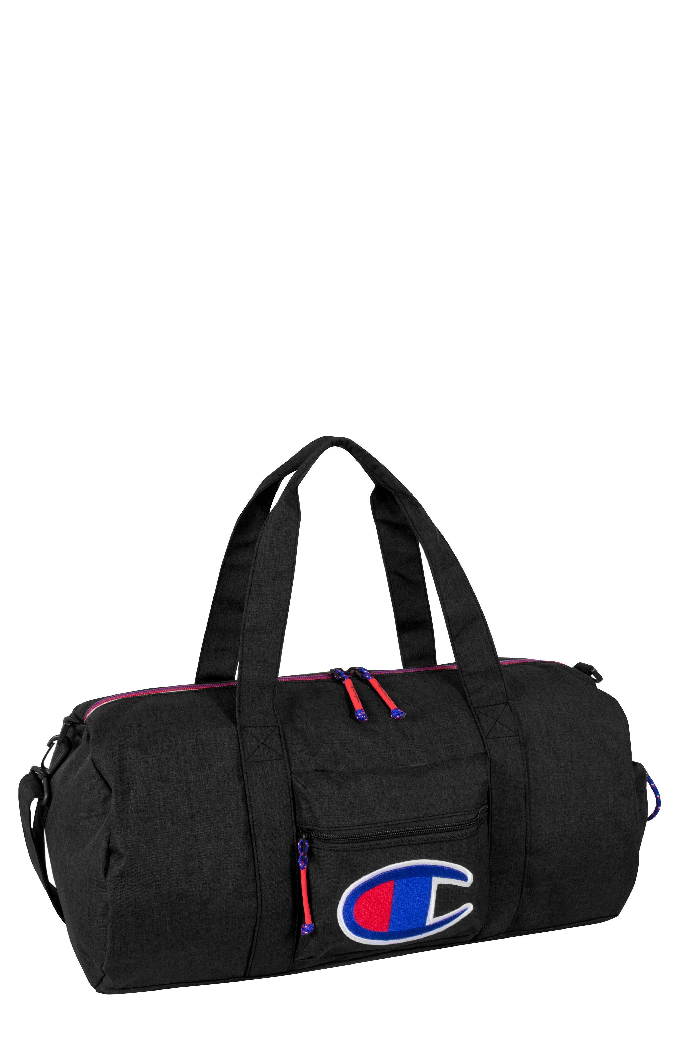 Barrel Duffel Bag,                         Main,                         color, Black Heather