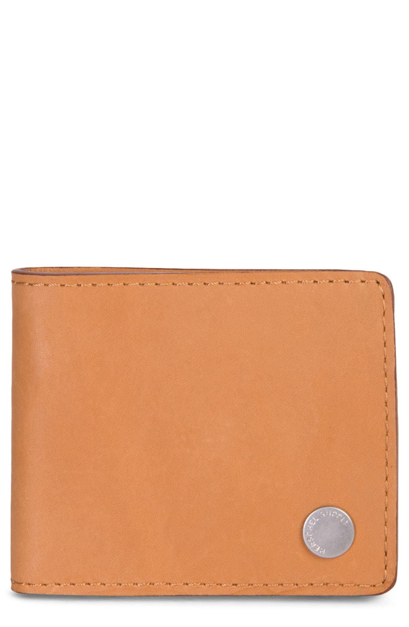 Vincent Saddle Leather Wallet,                         Main,                         color, Tan