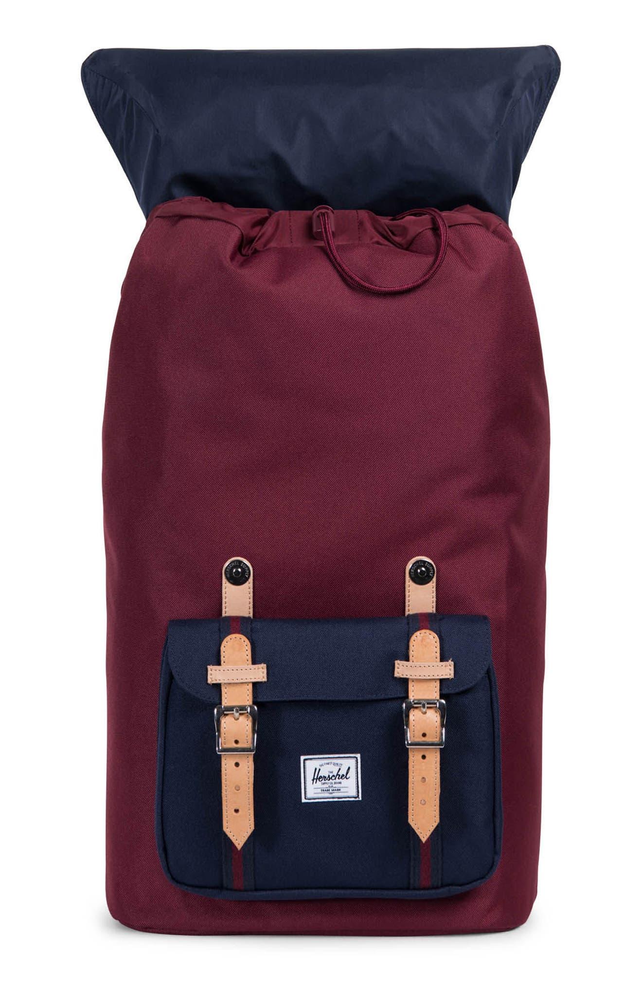 Little America Backpack,                             Alternate thumbnail 3, color,                             Windsor Wine/