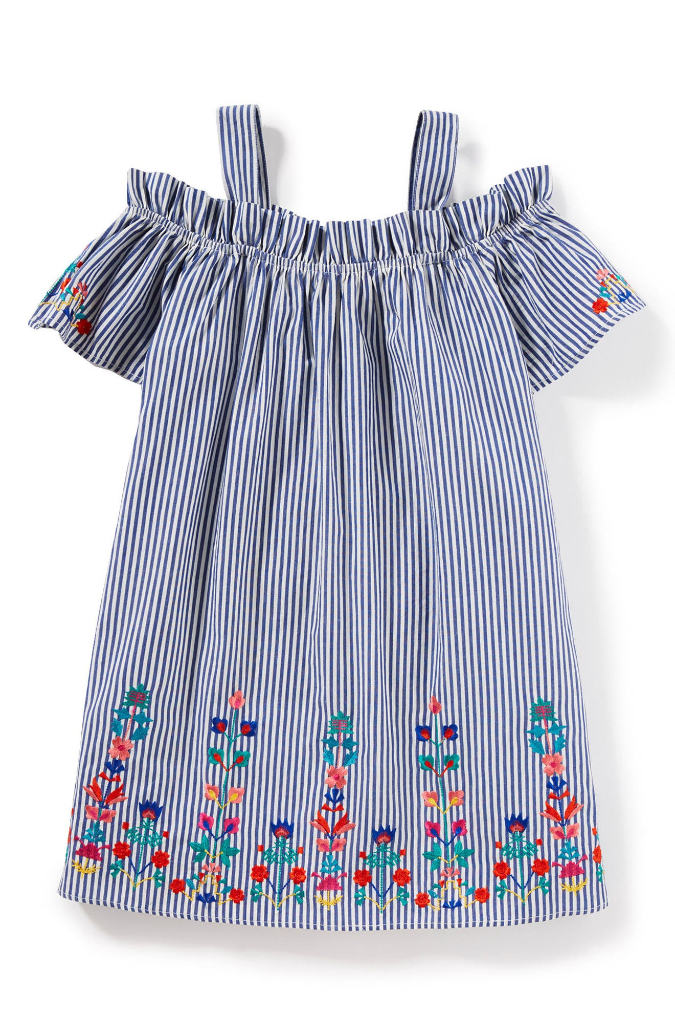 Christina Stripe Dress,                             Main thumbnail 1, color,                             Blue