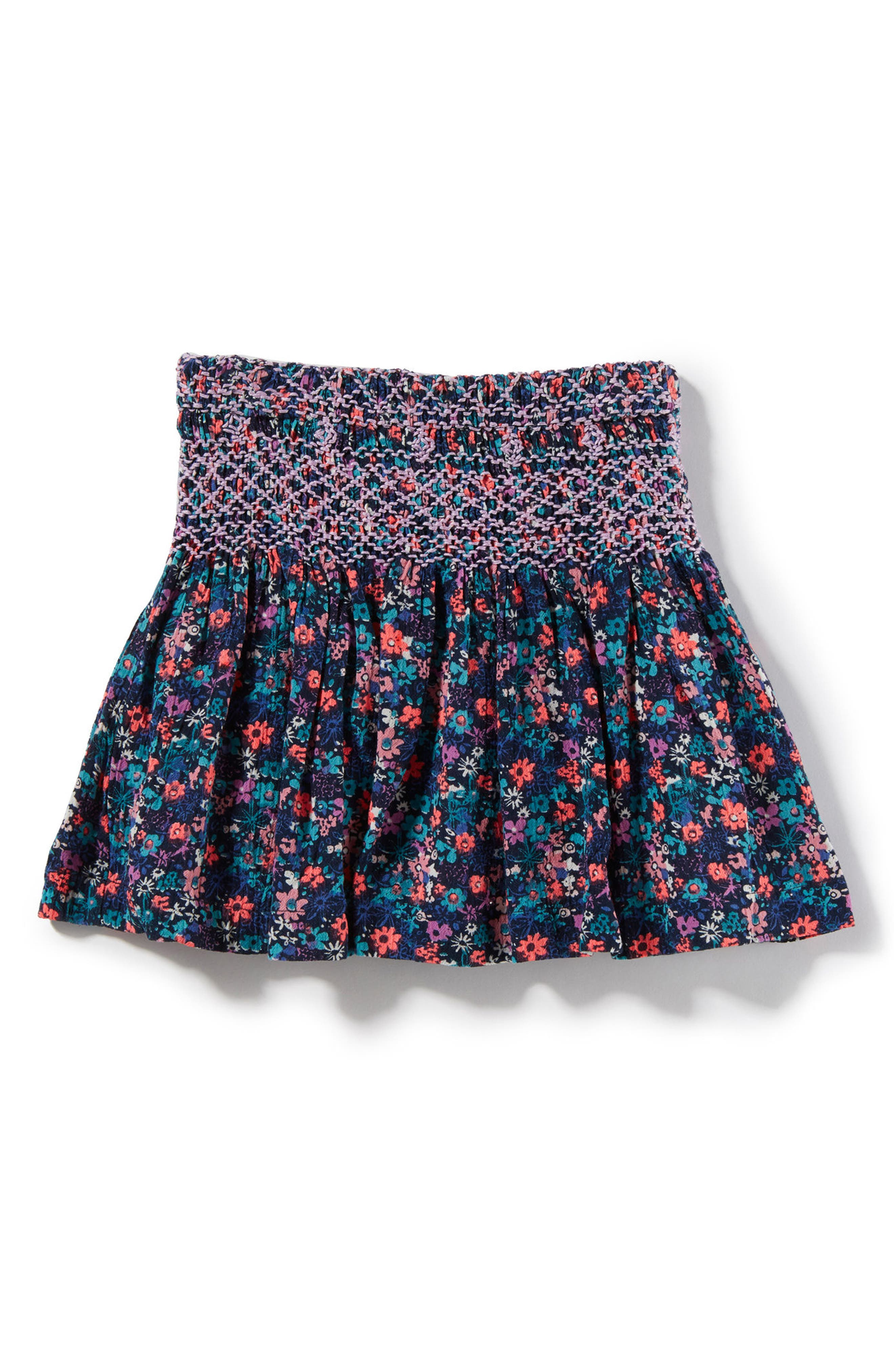 Pixie Smock Skirt,                         Main,                         color, Navy