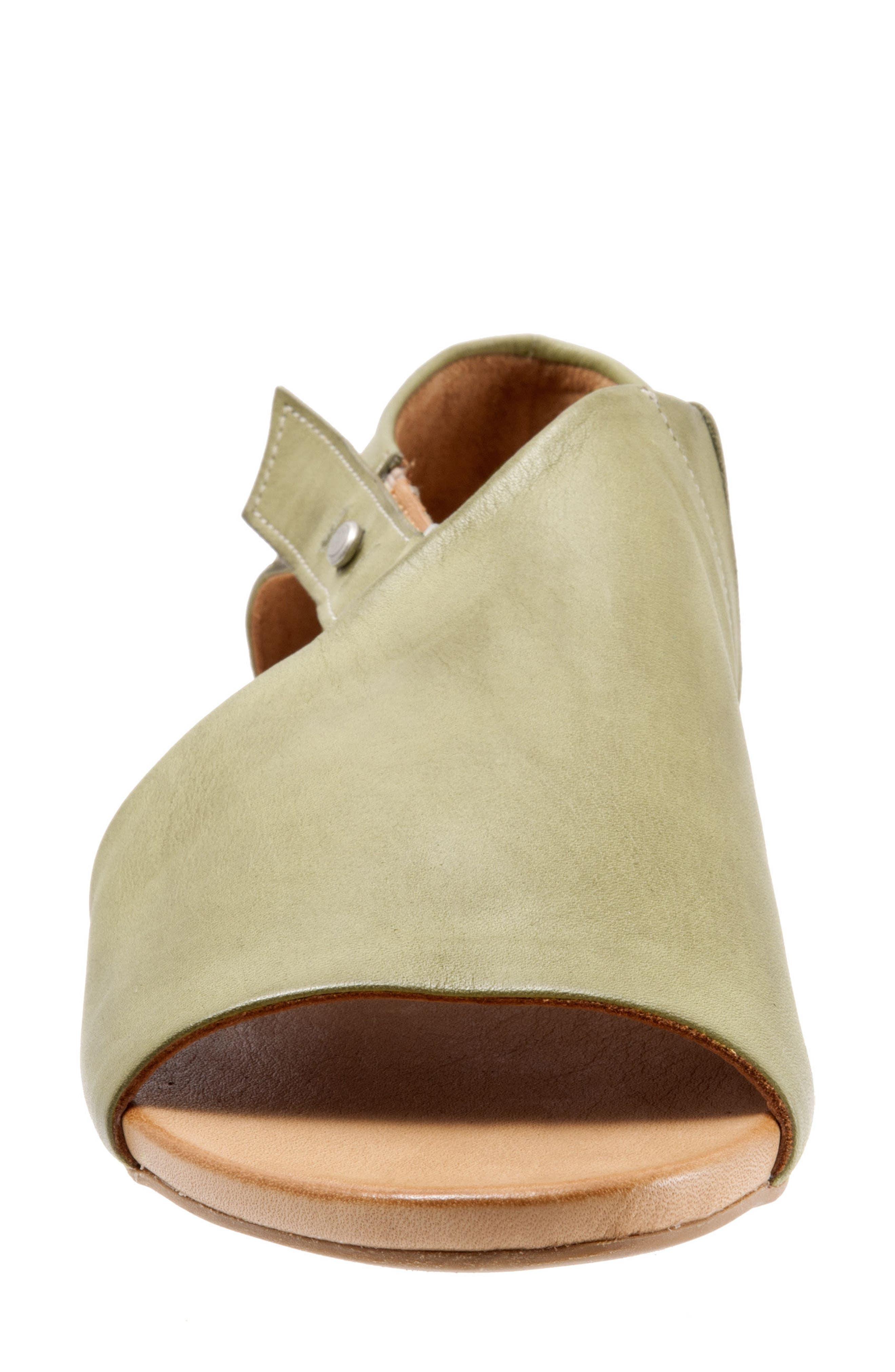 Kale Sandal,                             Alternate thumbnail 4, color,                             Moss Leather