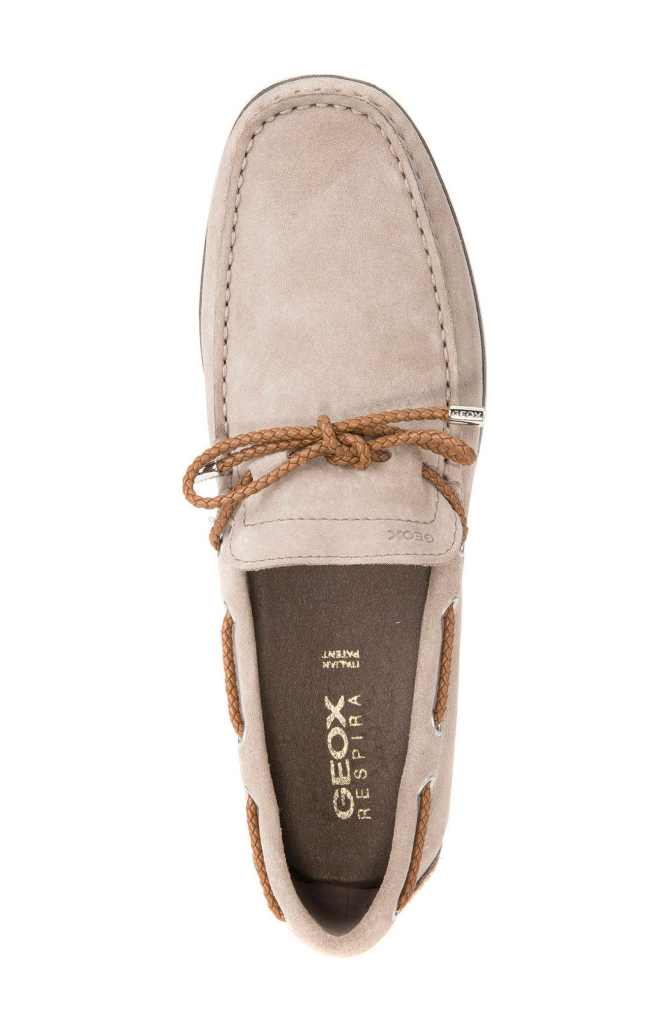 Mirvin 2 Boat Shoe,                             Alternate thumbnail 5, color,                             Taupe Suede