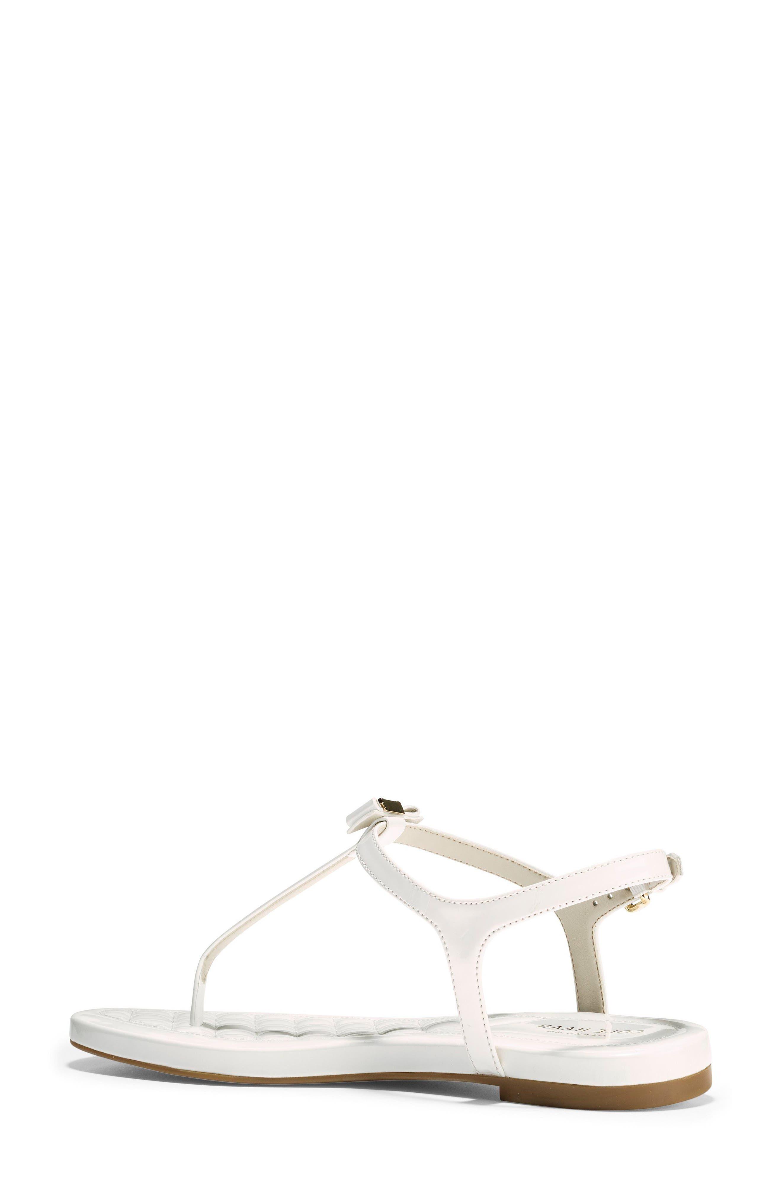 Tali Bow Sandal,                             Alternate thumbnail 2, color,                             Optic White Patent