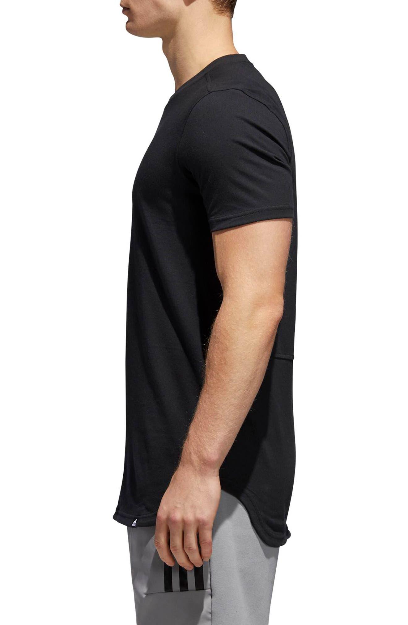 Elevate HOU T-Shirt,                             Alternate thumbnail 3, color,                             Black / White