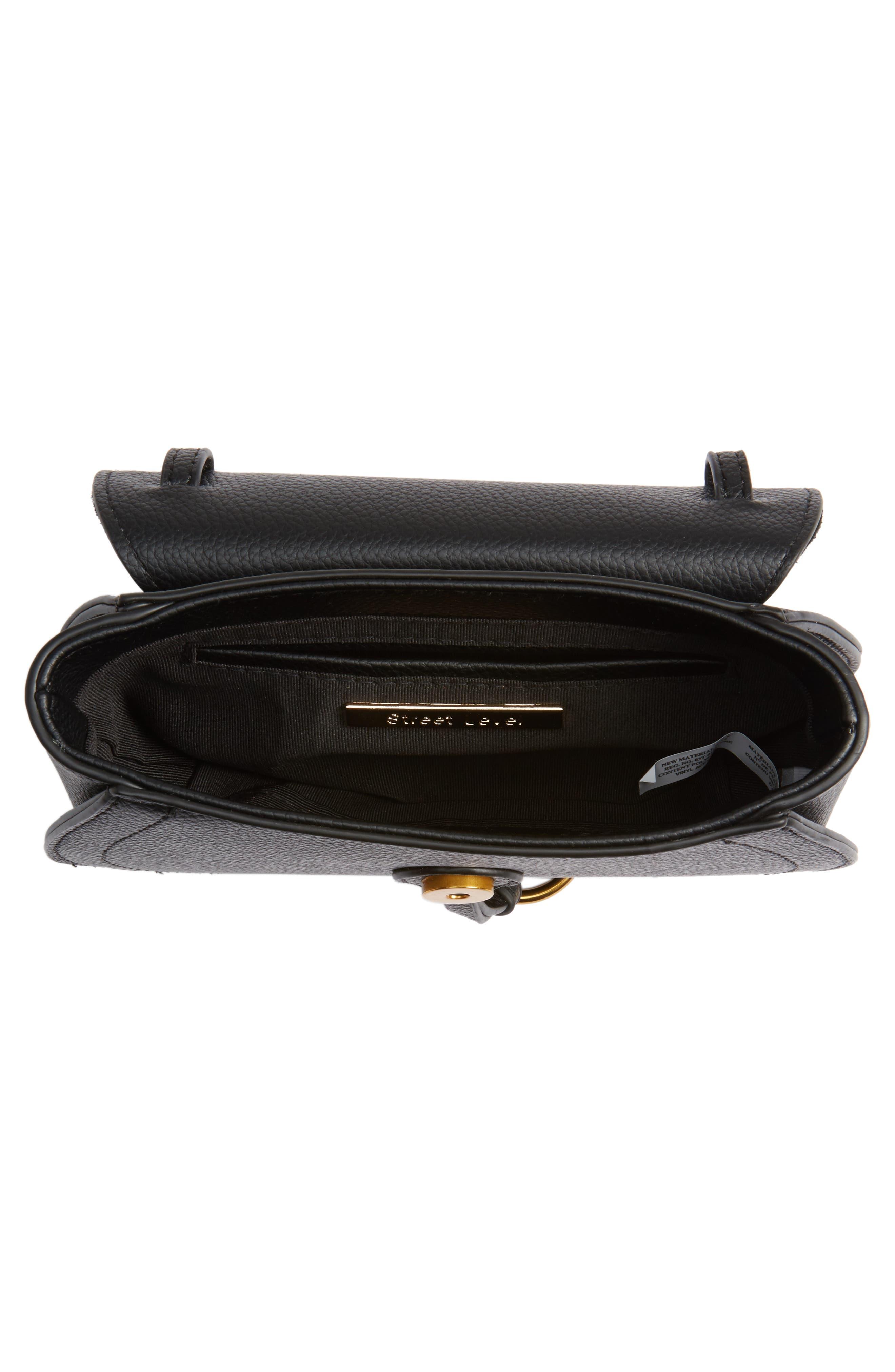 Convertible Crossbody Bag,                             Alternate thumbnail 4, color,                             Black