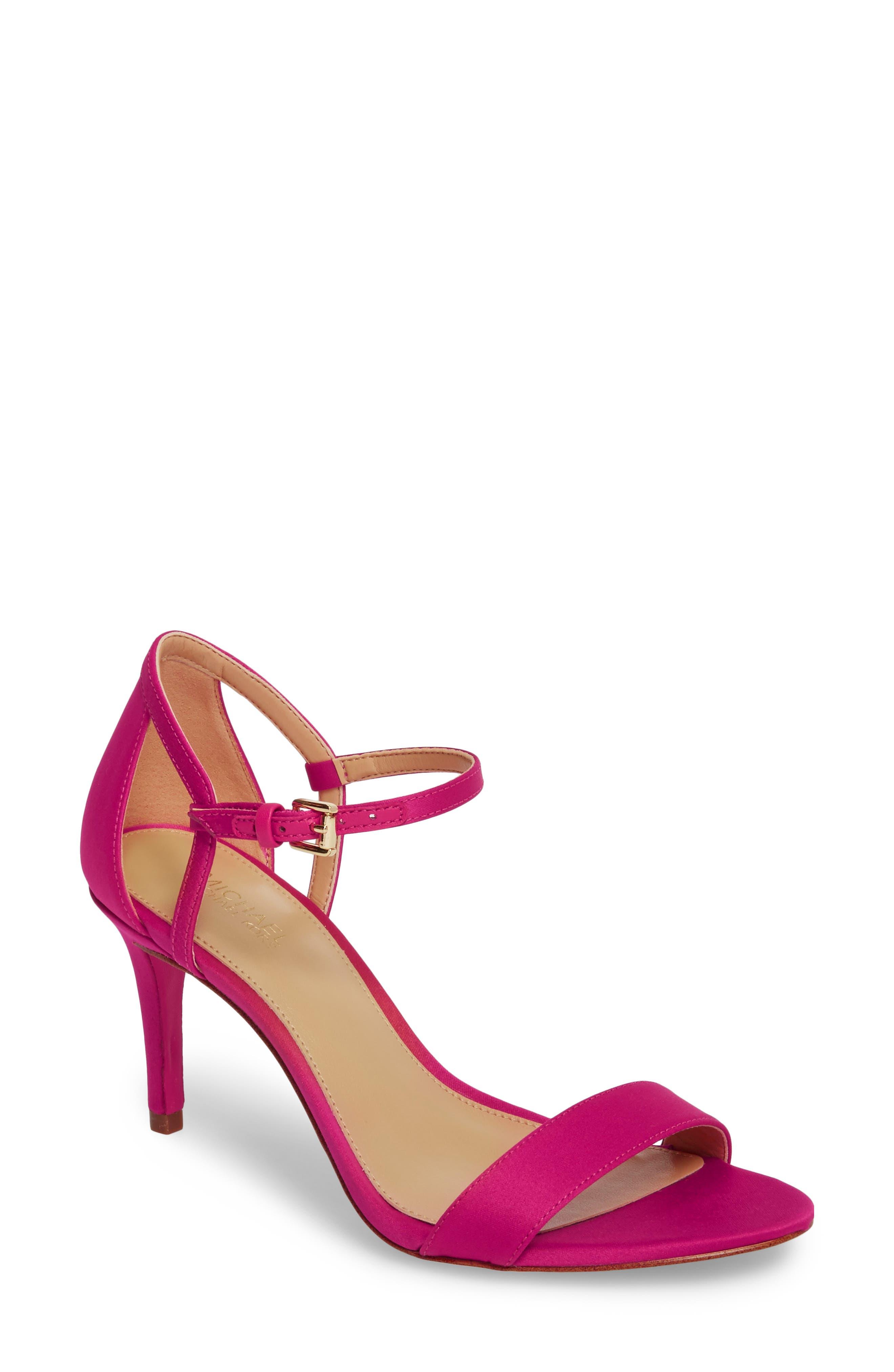 'Simone' Sandal,                         Main,                         color, Ultra Pink Satin
