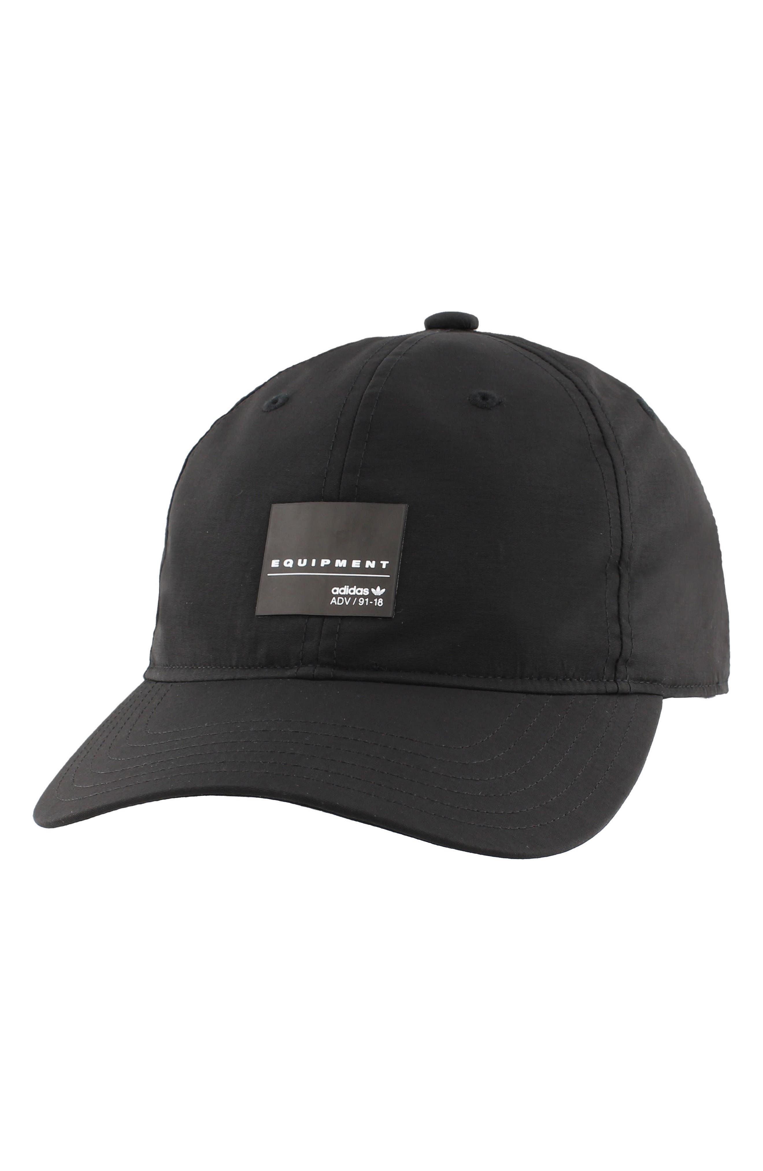 EQT Label Ball Cap,                         Main,                         color, Black/ White