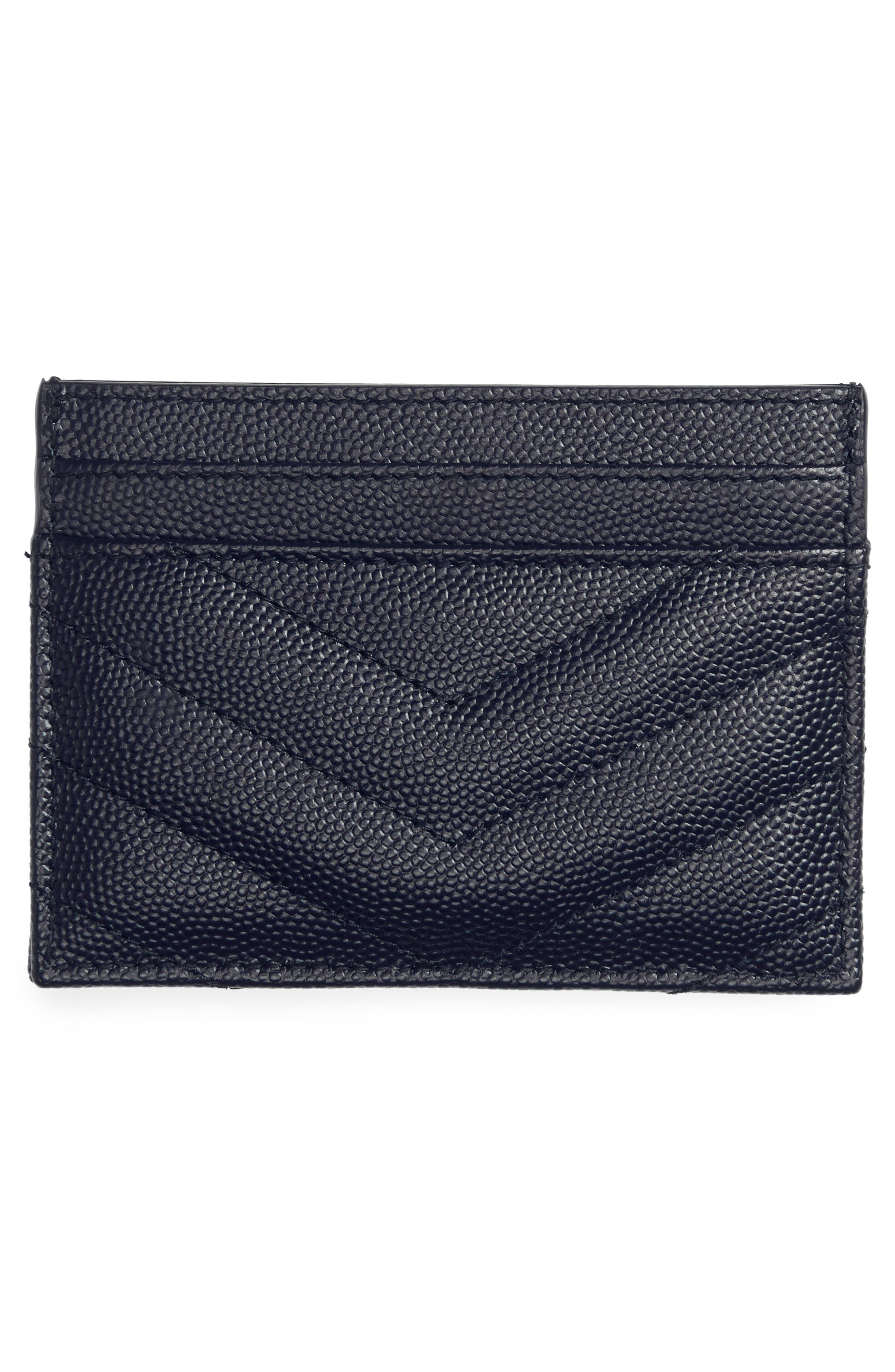 'Monogram' Credit Card Case,                             Alternate thumbnail 2, color,                             Blue