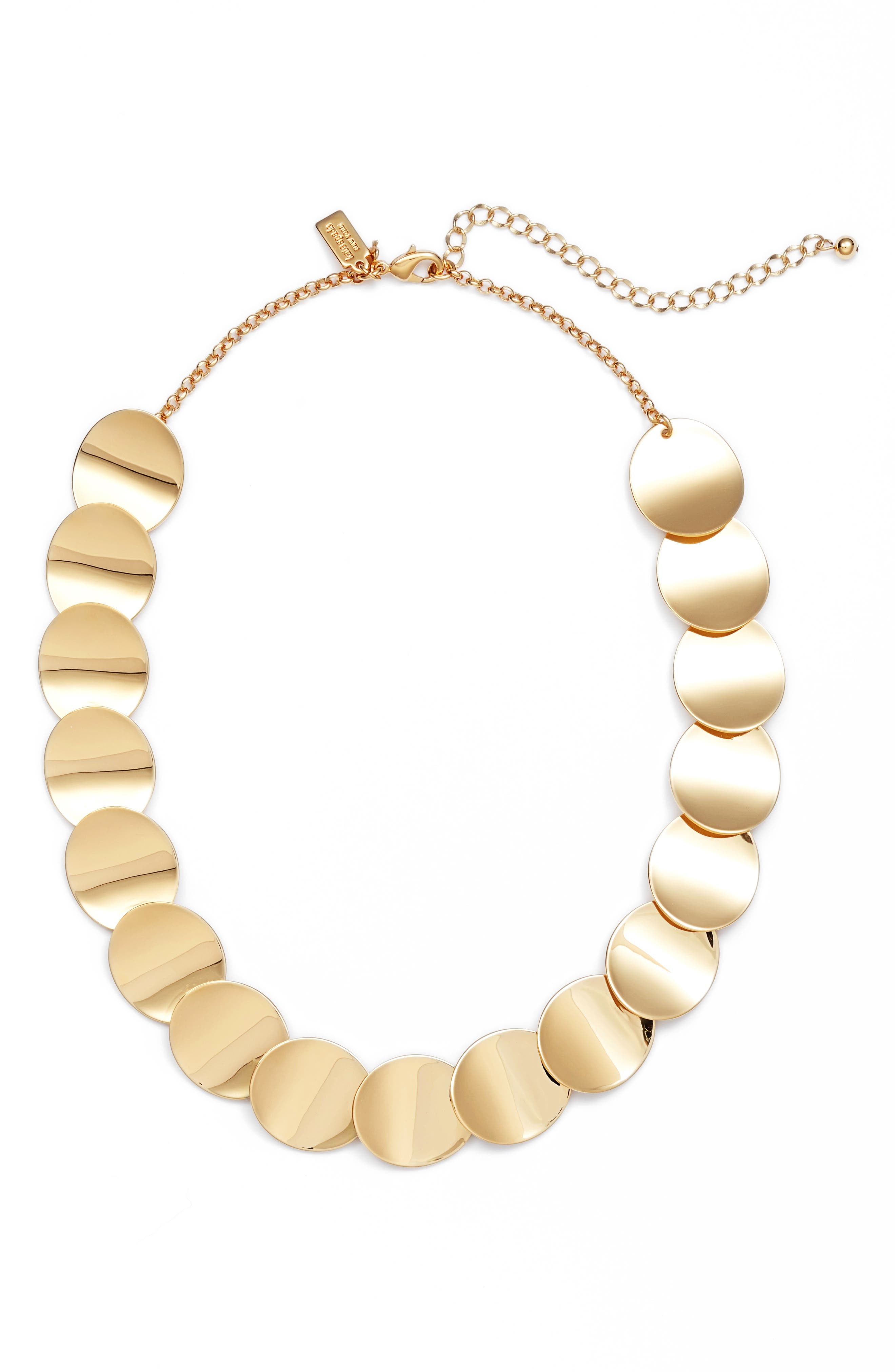 gold standard crew necklace,                             Main thumbnail 1, color,                             Gold