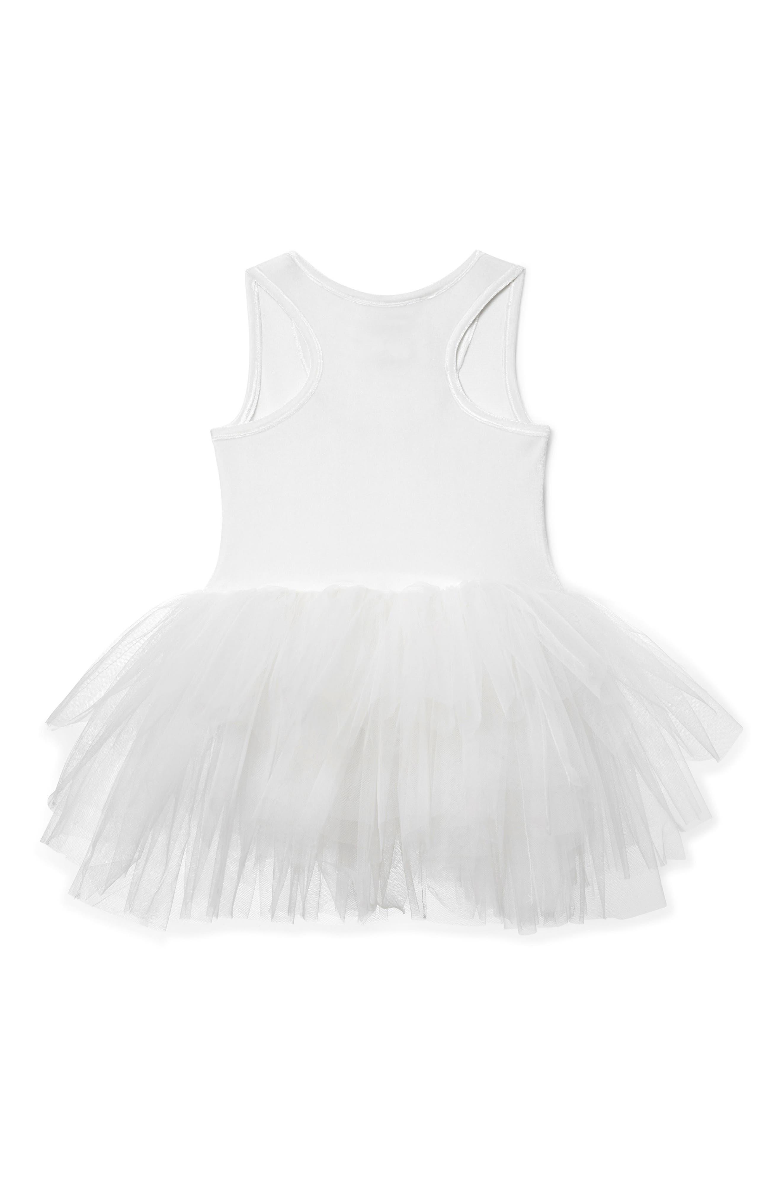 Tutu Dress,                             Alternate thumbnail 2, color,                             White