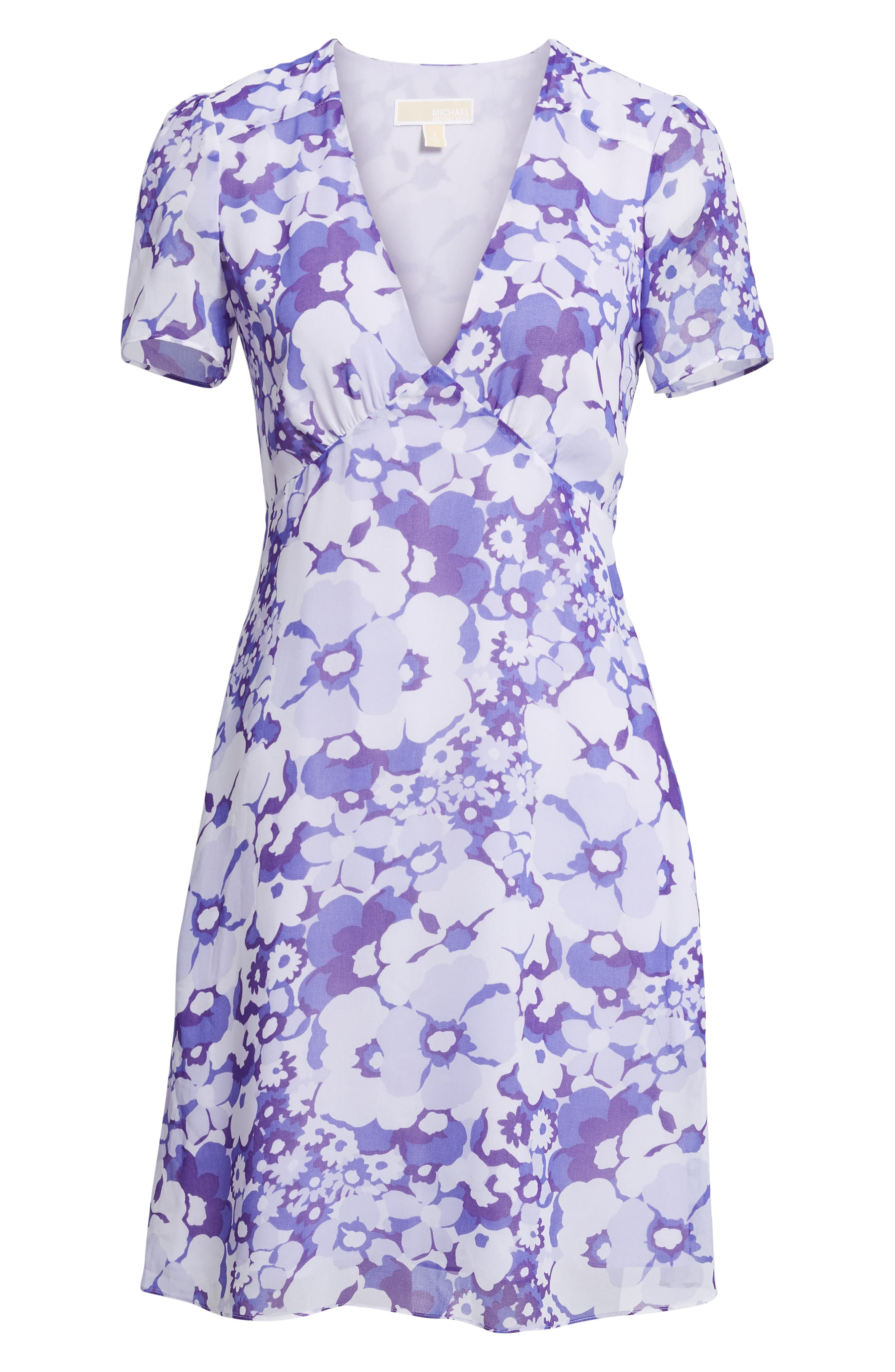 Springtime Floral Dress,                             Alternate thumbnail 6, color,                             Amethyst/ Light Quartz Multi
