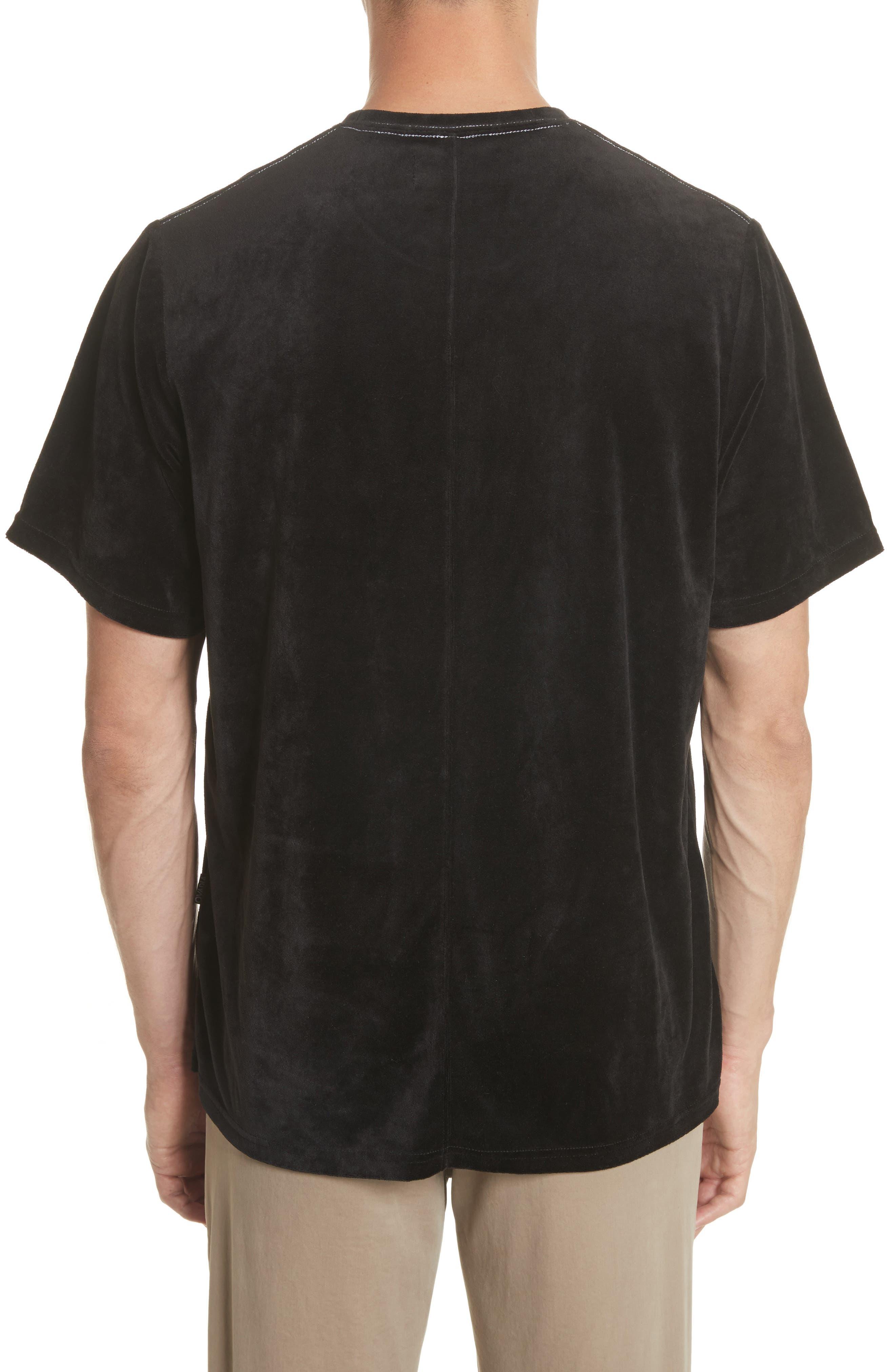 Velour T-Shirt,                             Alternate thumbnail 2, color,                             Black