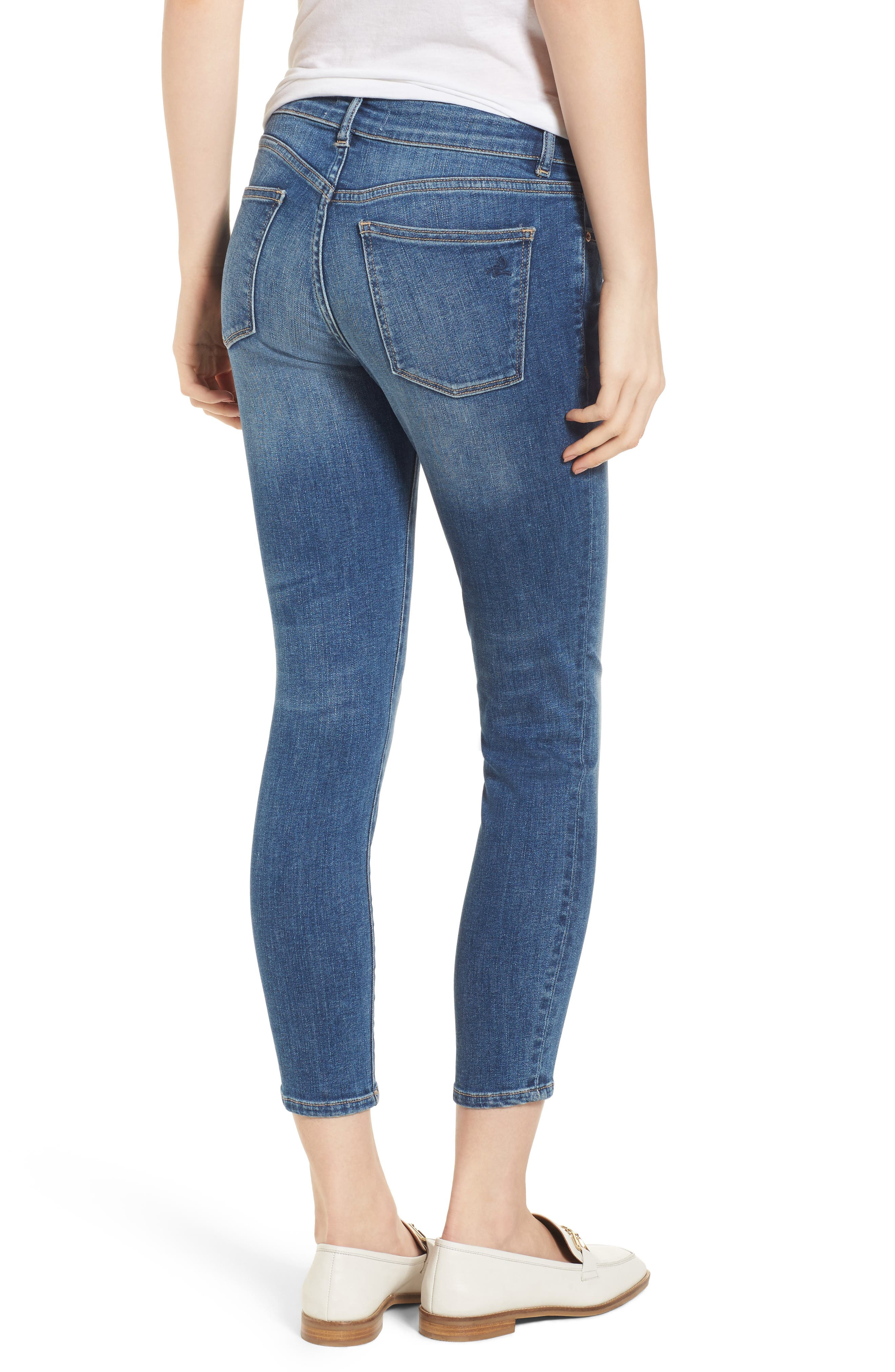 Florence Instasculpt Crop Skinny Jeans,                             Alternate thumbnail 2, color,                             Everglade