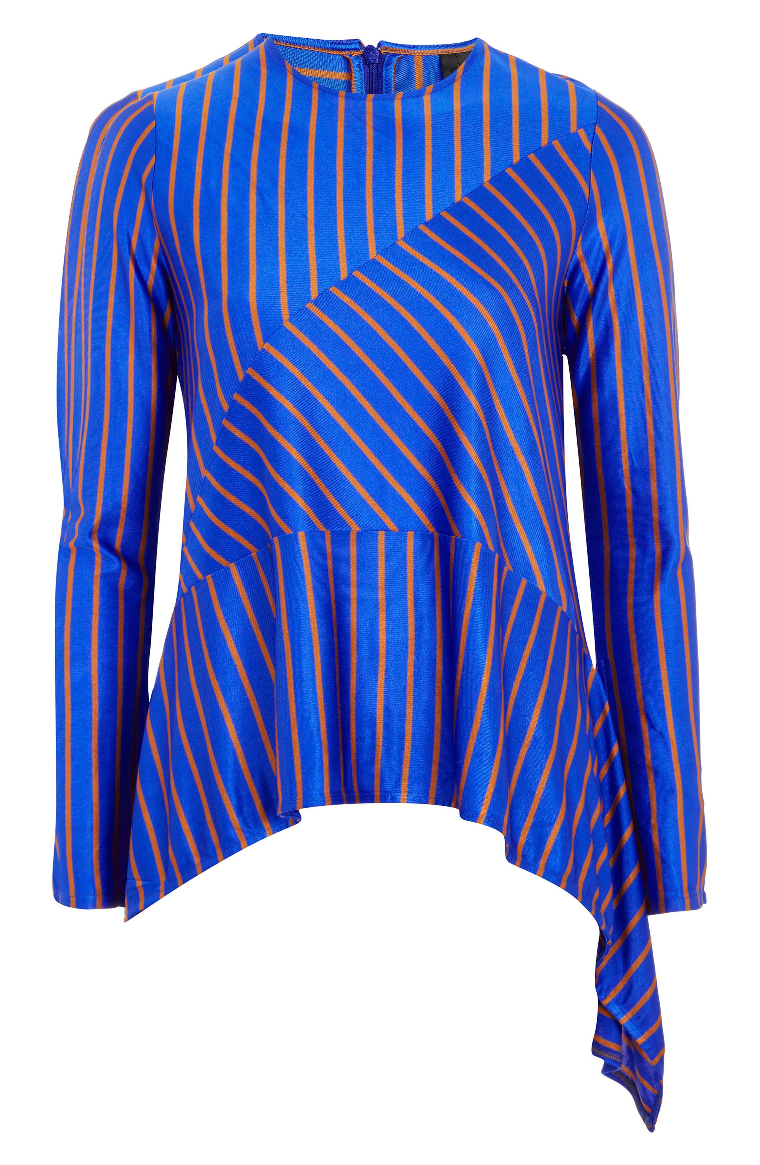 Cutabout Stripe Top,                             Main thumbnail 1, color,                             Blue Multi