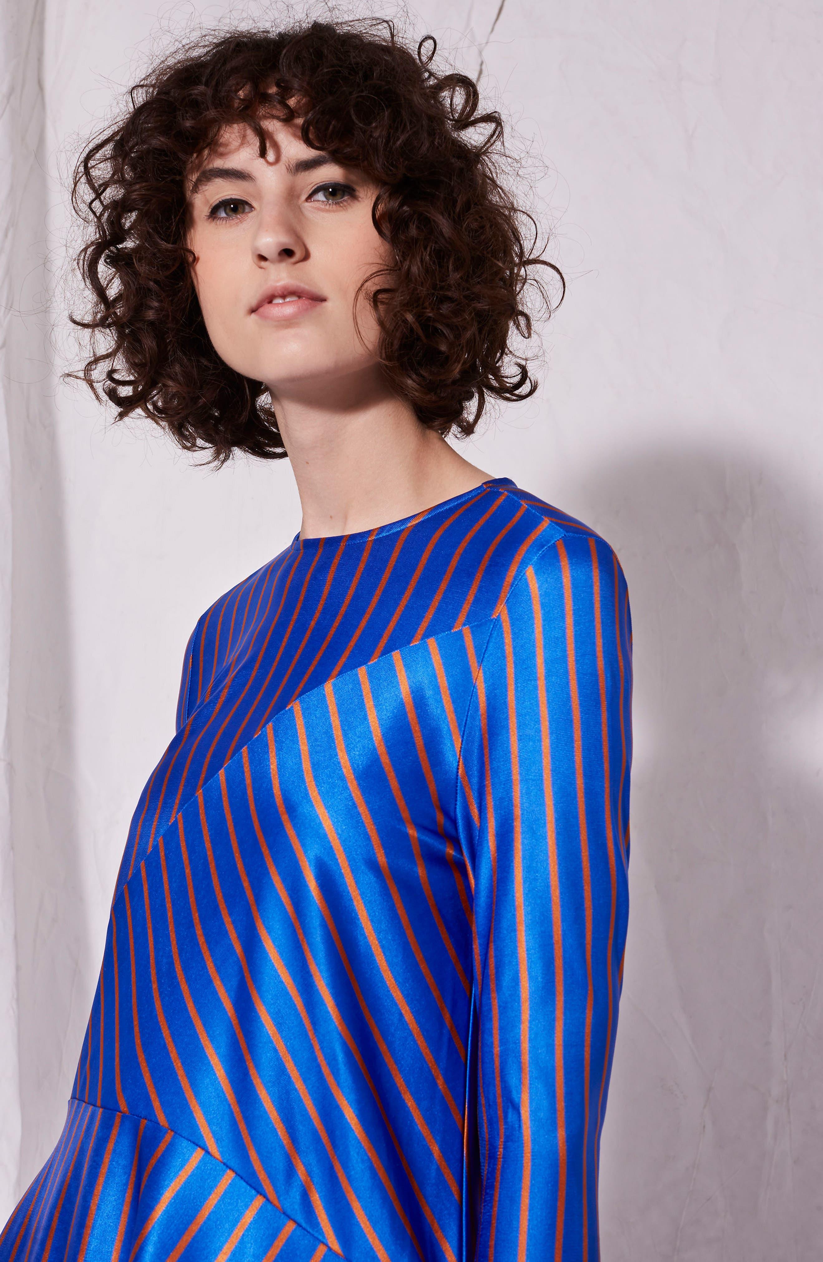 Cutabout Stripe Top,                             Alternate thumbnail 4, color,                             Blue Multi