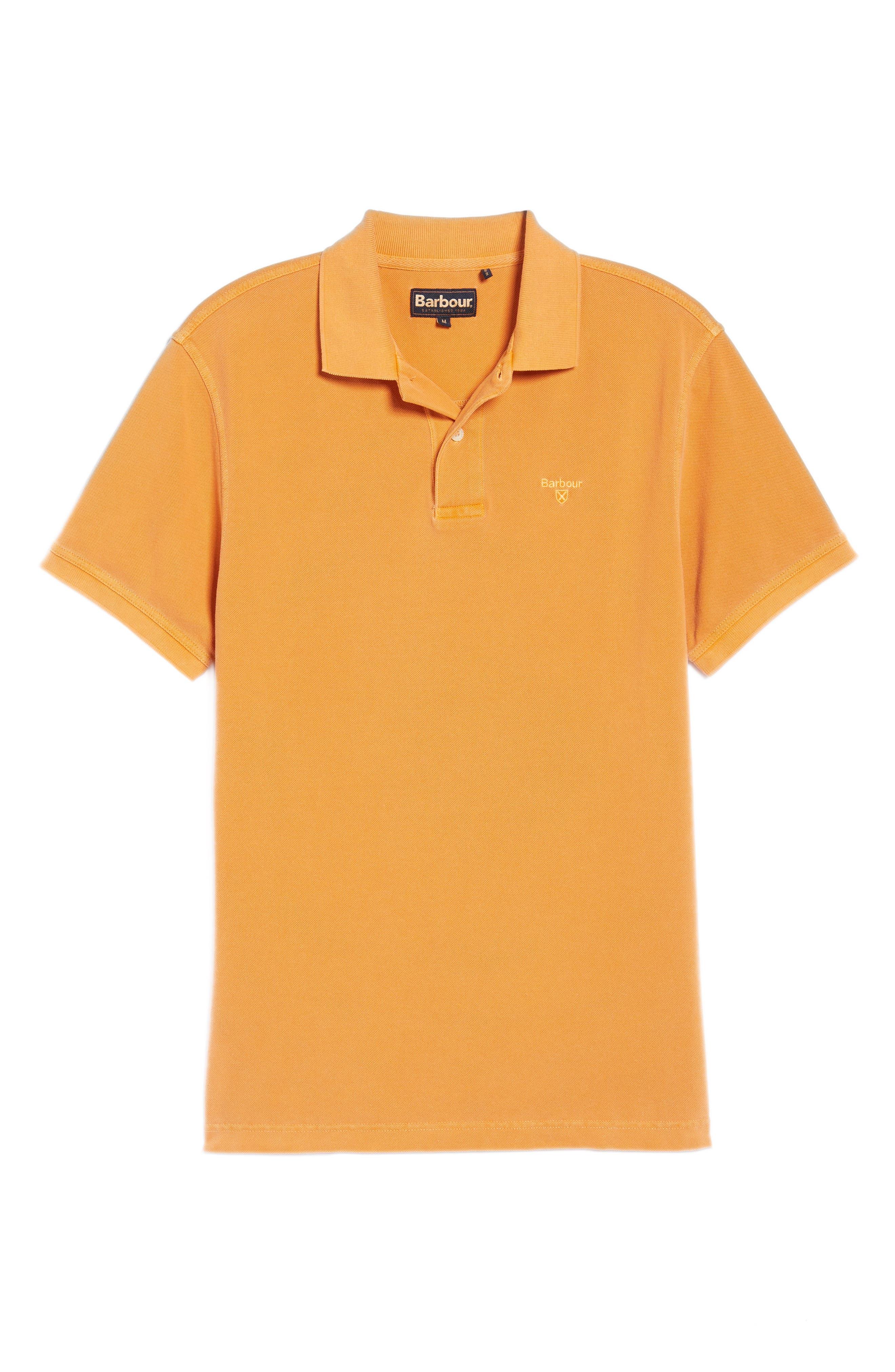Washed Sports Polo Shirt,                             Alternate thumbnail 6, color,                             Acid Orange