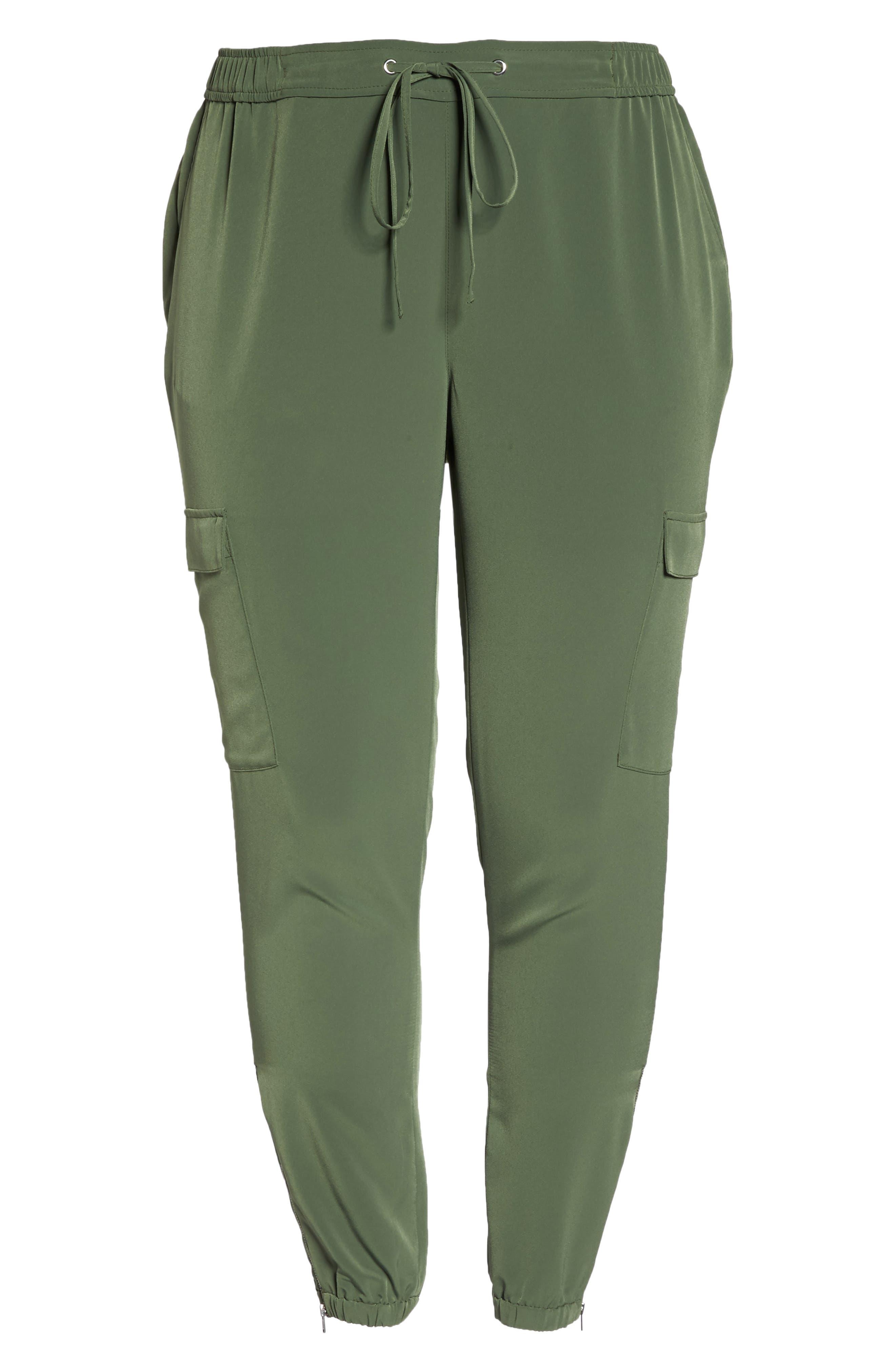 Zip Ankle Jogger Pants,                             Alternate thumbnail 6, color,                             Green Bronze