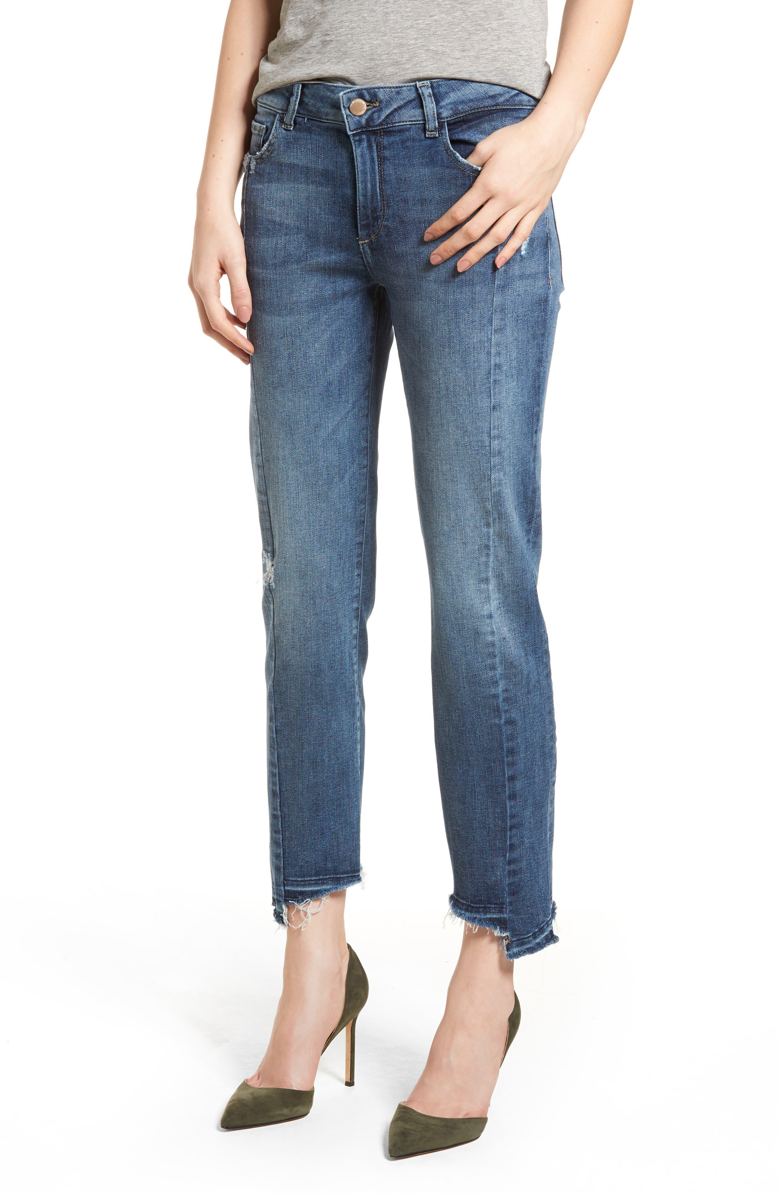 Mara Instasculpt Ankle Straight Leg Jeans,                             Main thumbnail 1, color,                             Castlewood