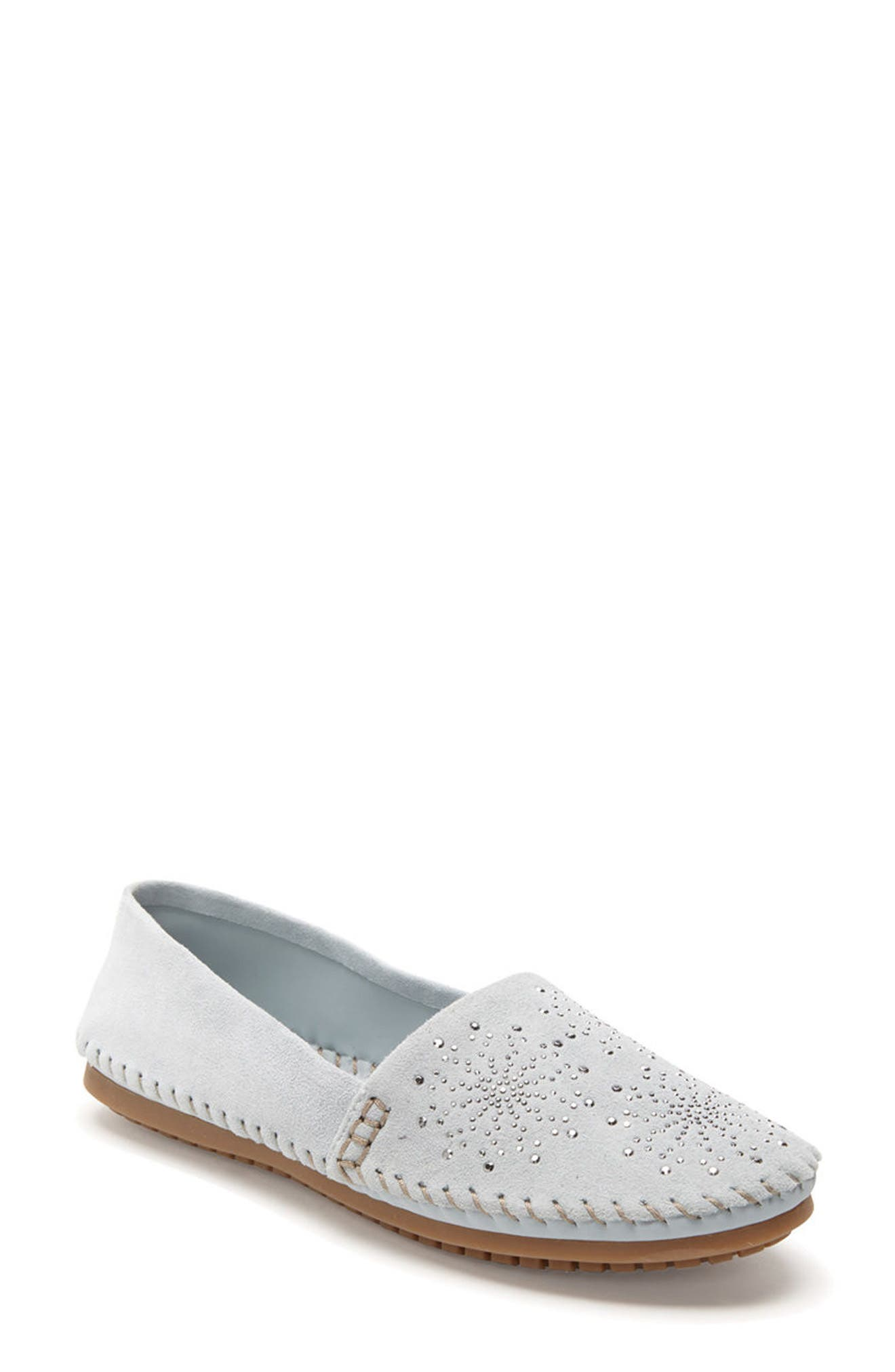 Adam Tucker Stardust Loafer,                             Main thumbnail 1, color,                             Sky Blue Suede