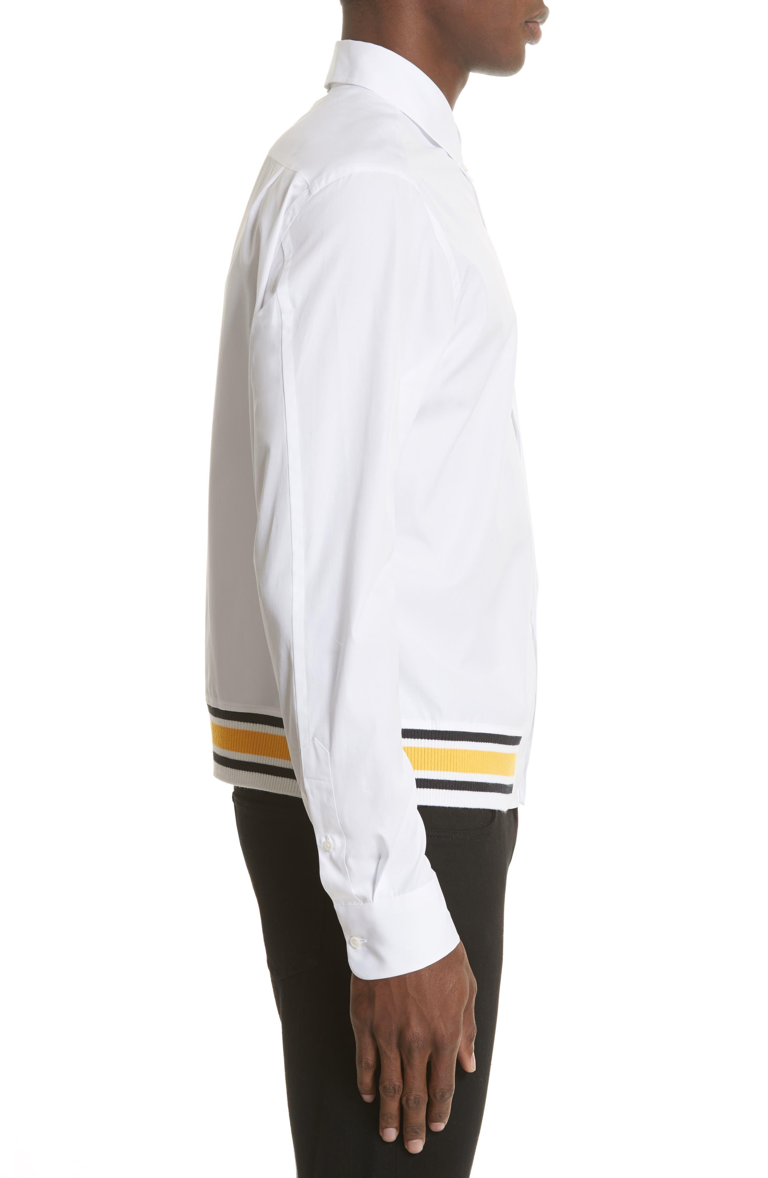 Blouson Hem Shirt,                             Alternate thumbnail 3, color,                             White