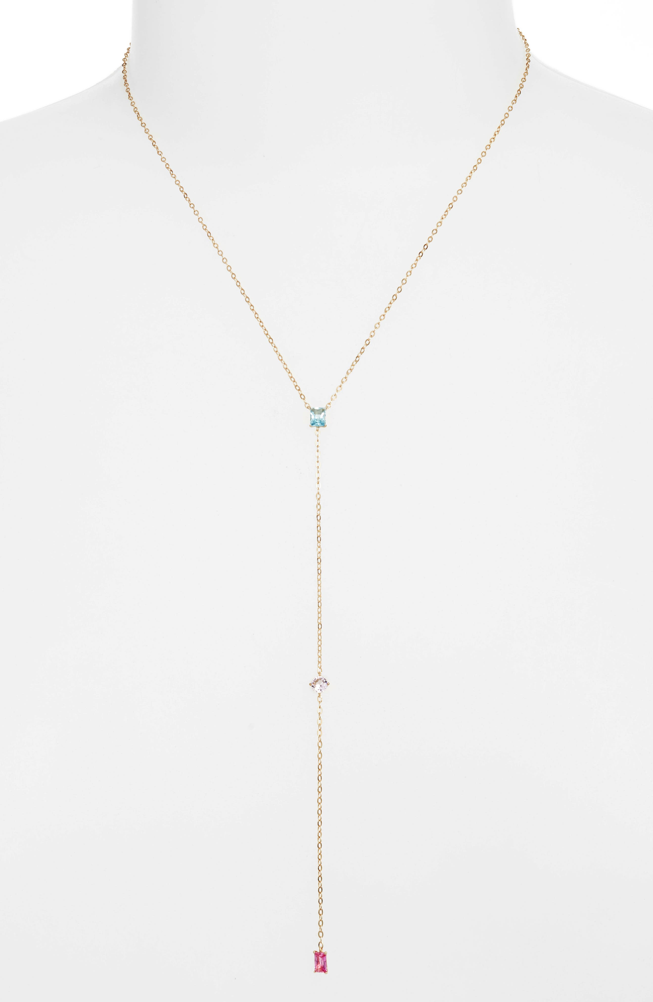 Tier Pendant Necklace,                         Main,                         color, Gold