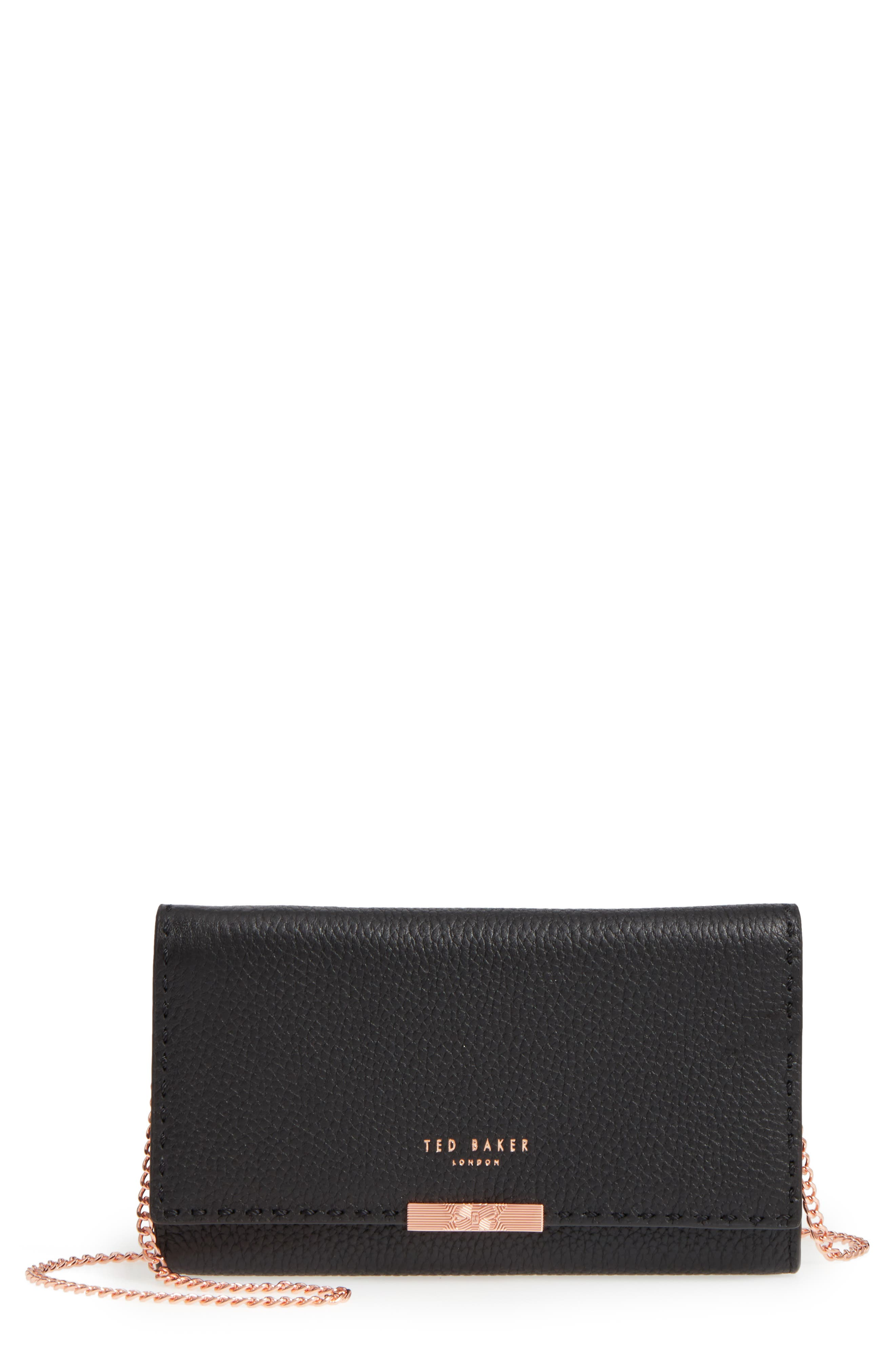 Ted Baker London Janet Leather Crossbody Matinée Wallet on a Chain