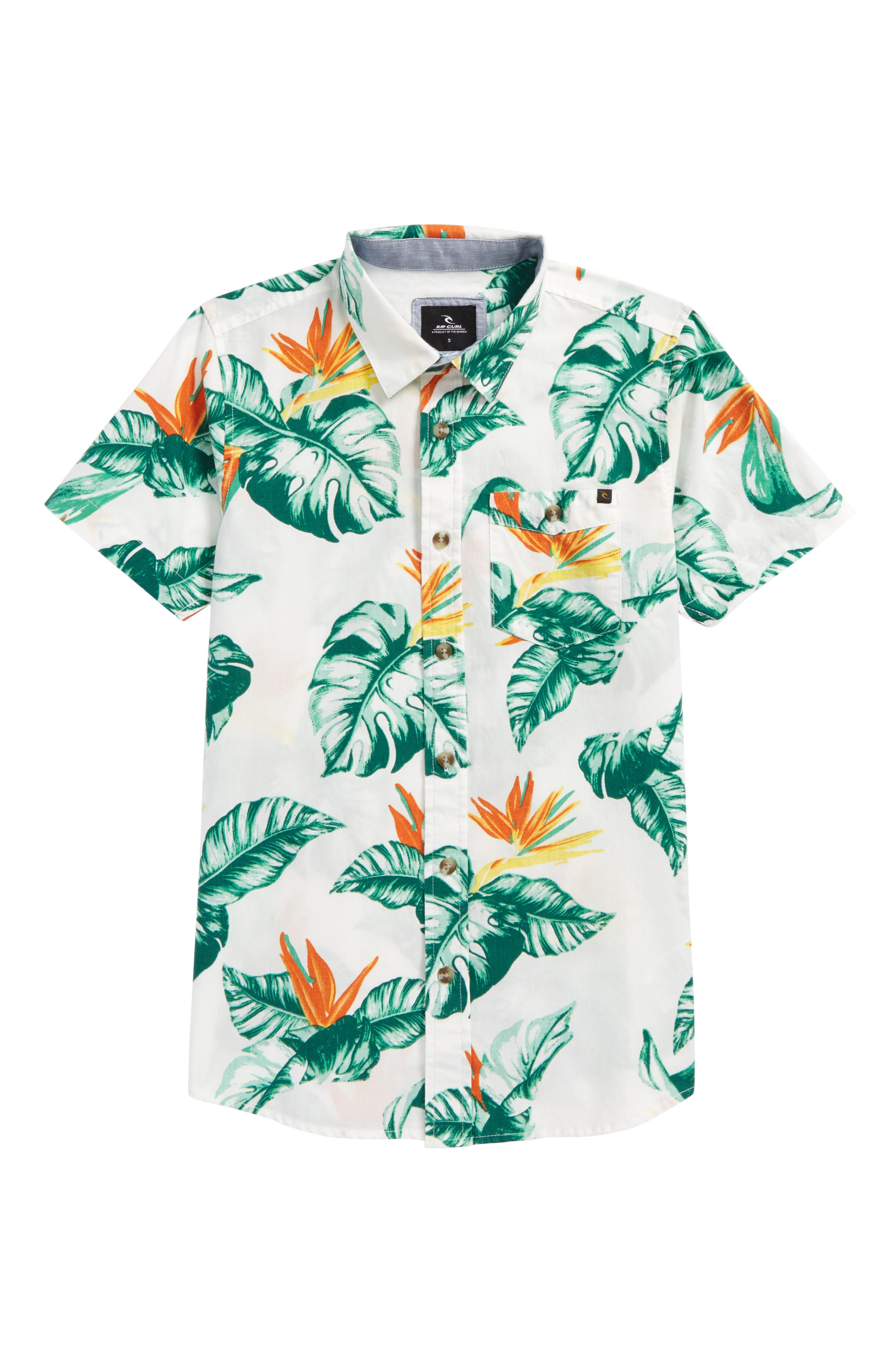 Alternate Image 1 Selected - Rip Curl Sessions Short Sleeve Woven Shirt (Big Boys)