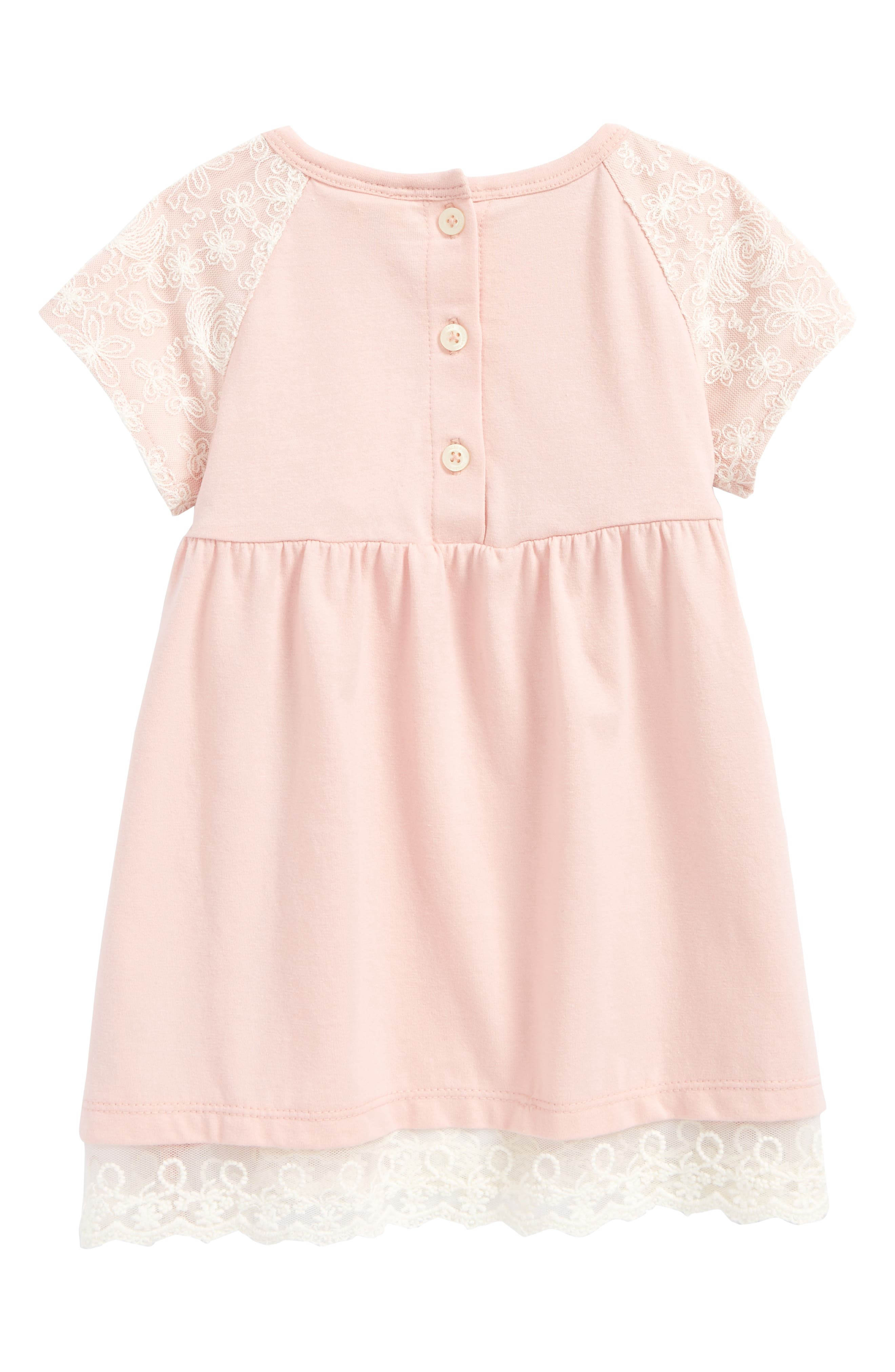 Jersey Dress,                             Alternate thumbnail 3, color,                             Pink Silver