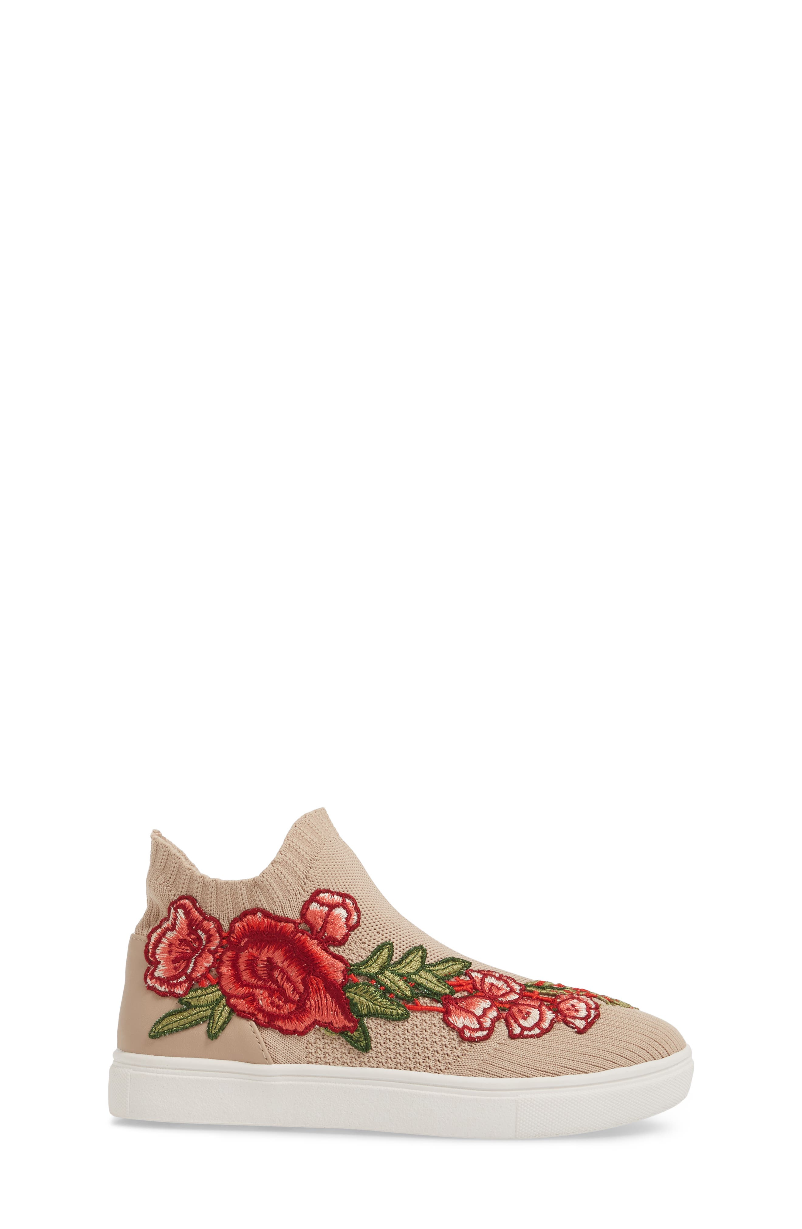 July Embroidered Knit Bootie,                             Alternate thumbnail 3, color,                             Blush