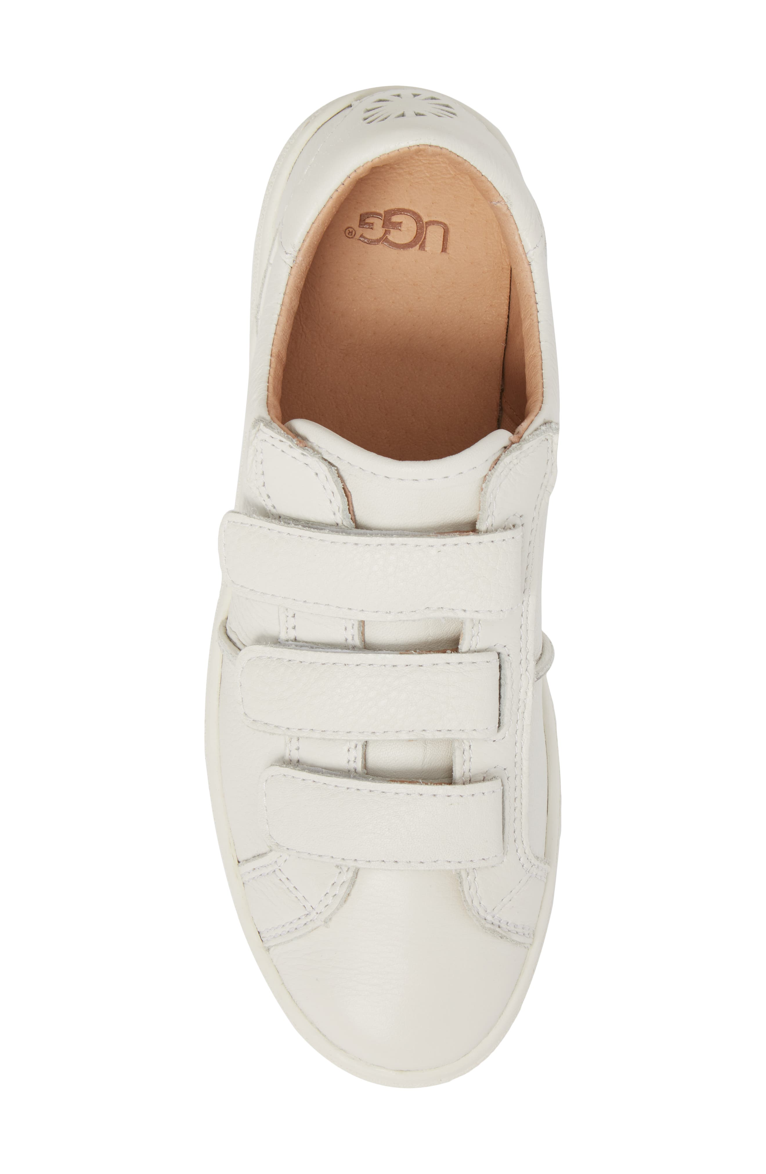 Alix Sneaker,                             Alternate thumbnail 5, color,                             White Leather