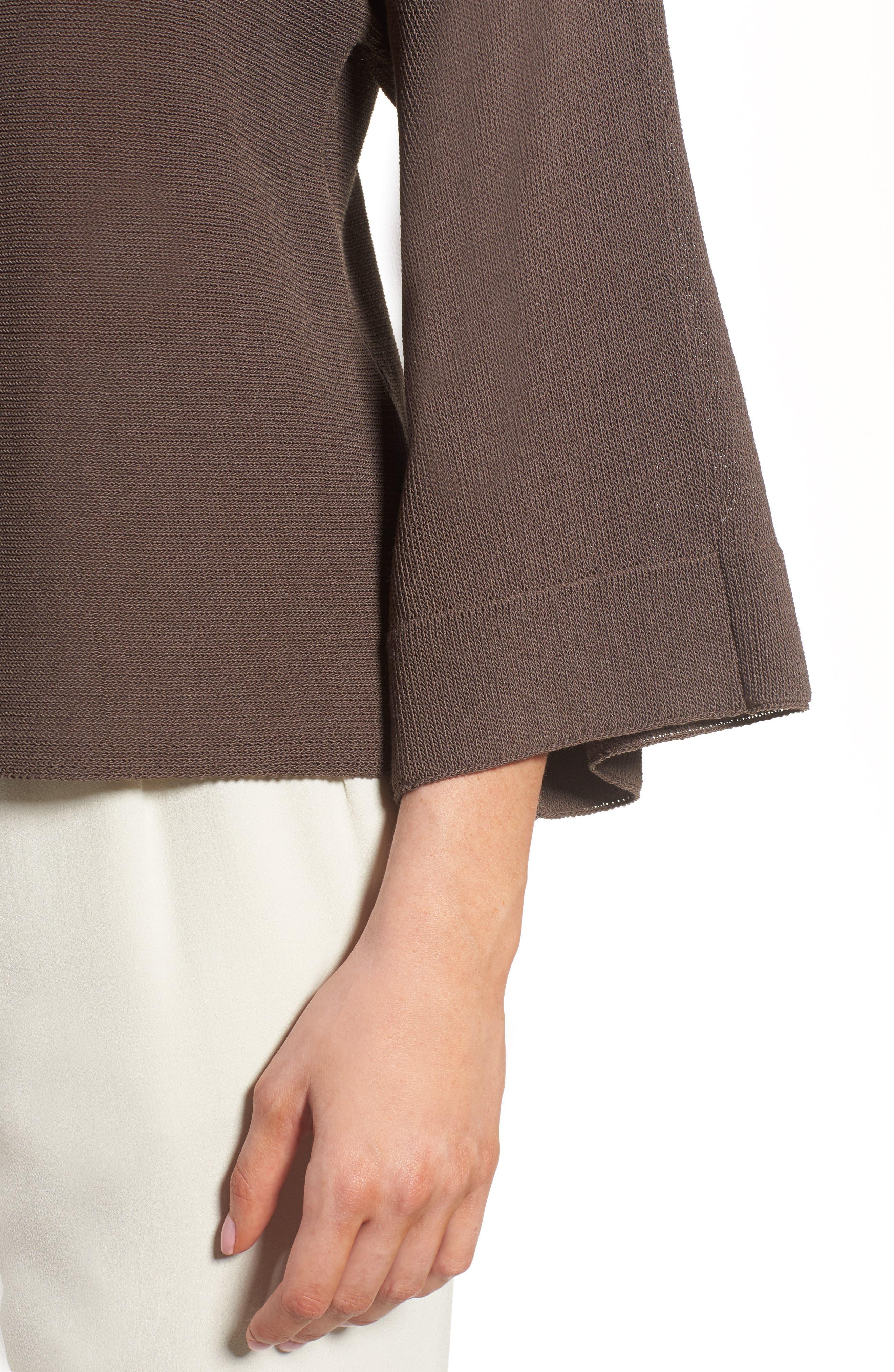 Organic Cotton Blend Sweater,                             Alternate thumbnail 4, color,                             Rye