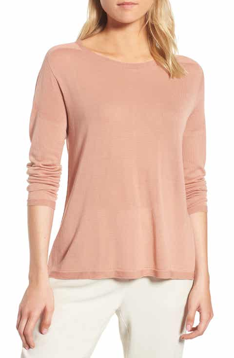 Eileen Fisher Tencel® Knit Sweater (Regular & Petite)