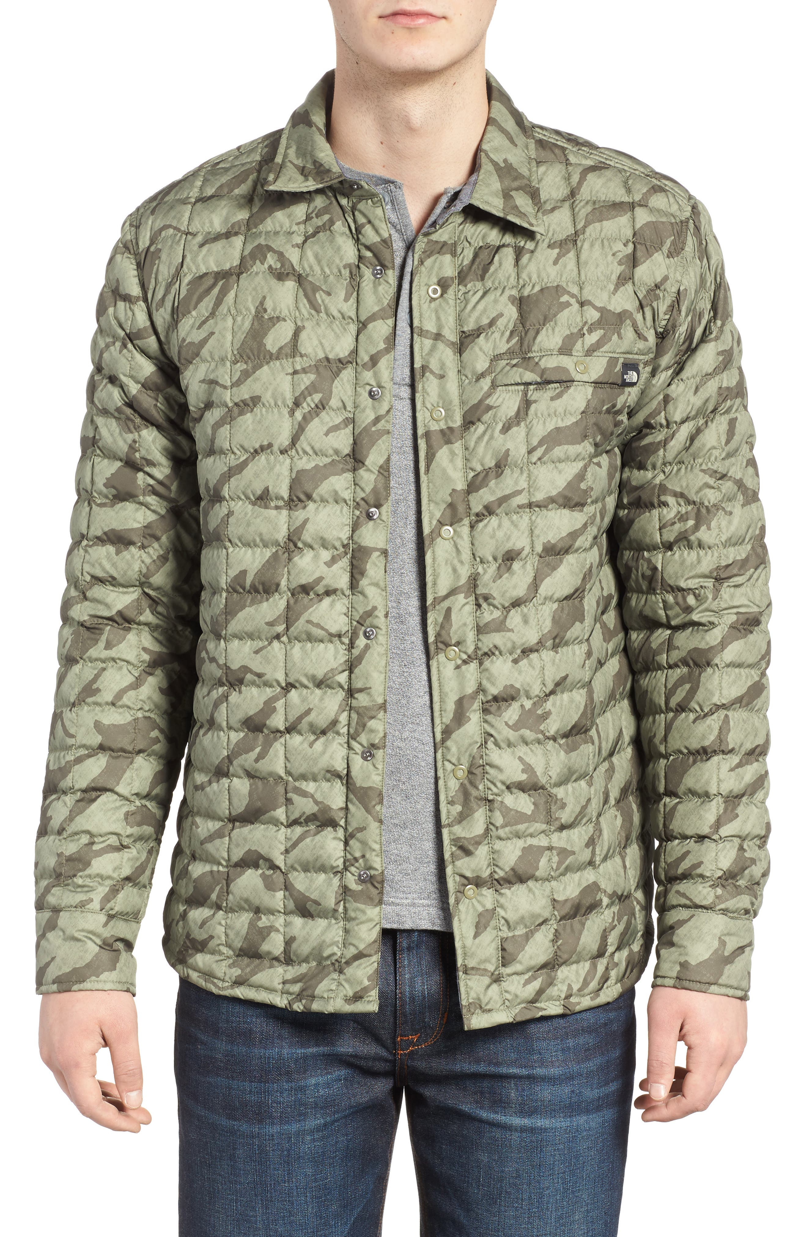 Reyes ThermoBall Shirt Jacket,                             Main thumbnail 1, color,                             Deep Lichen Green